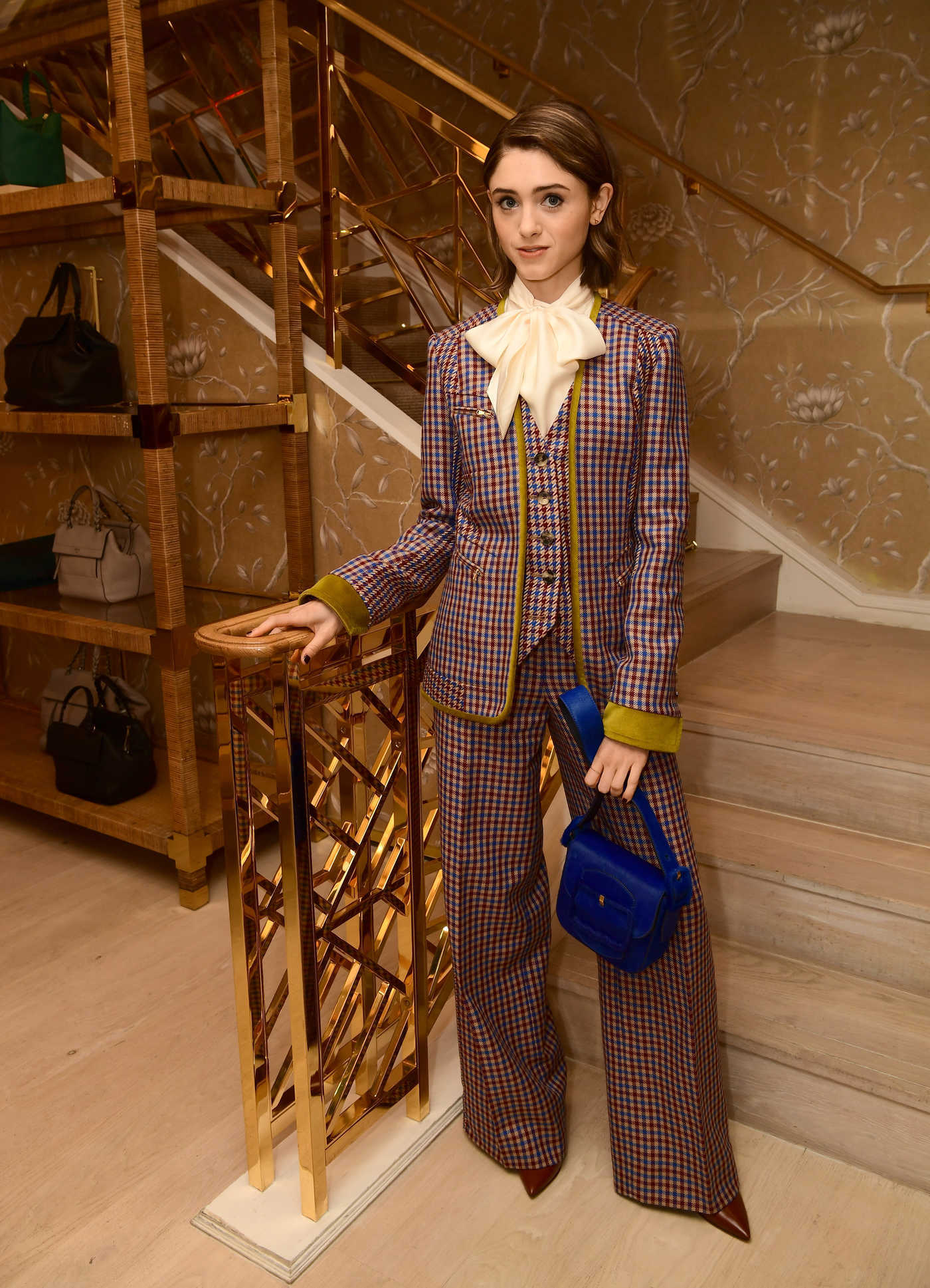 Natalia Dyer at Glamour x Tory Burch Women to Watch Lunch in Beverly Hills 09/15/2017