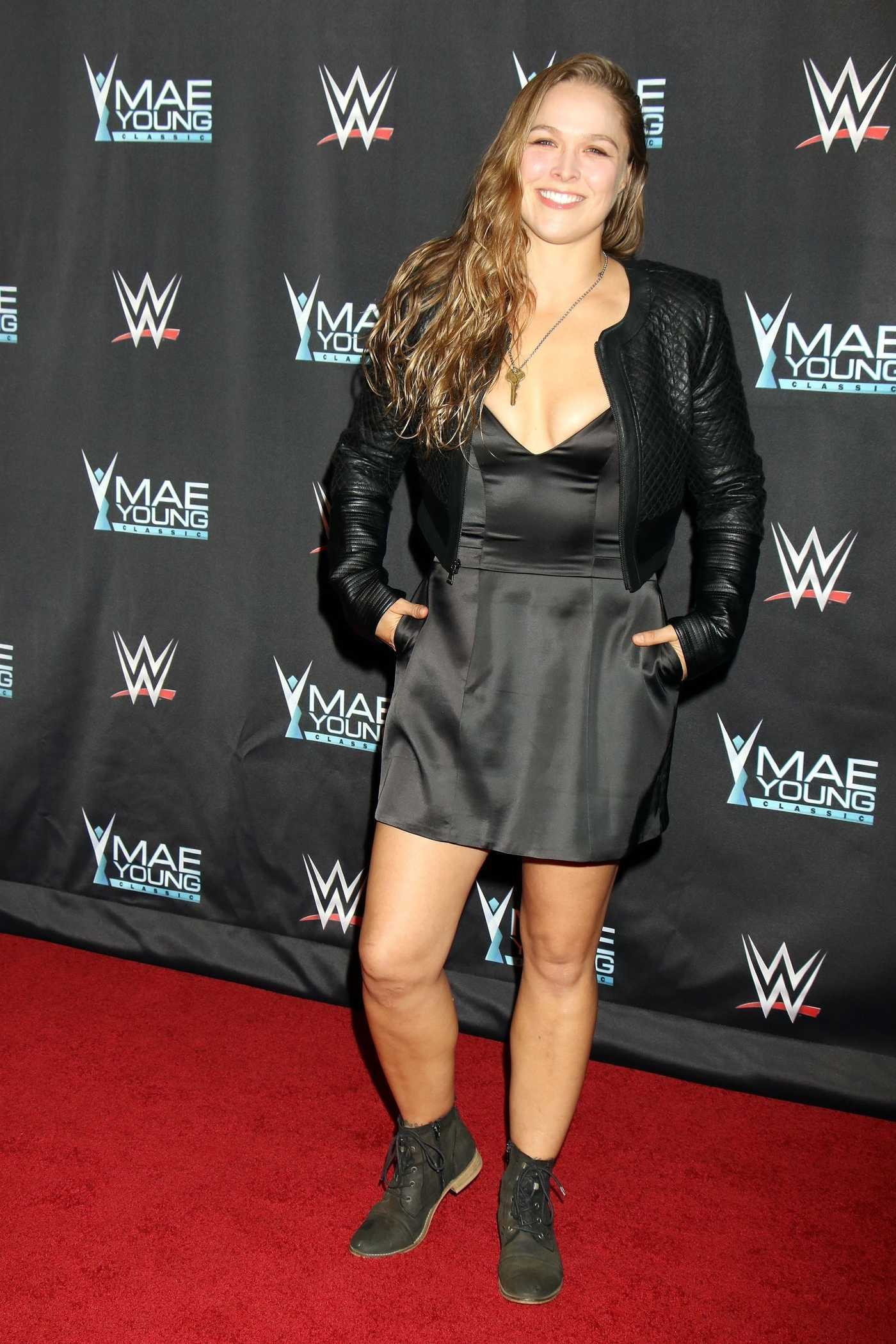 Ronda Rousey at WWE Presents Mae Young Classic Finale in Las Vegas 09/12/2017