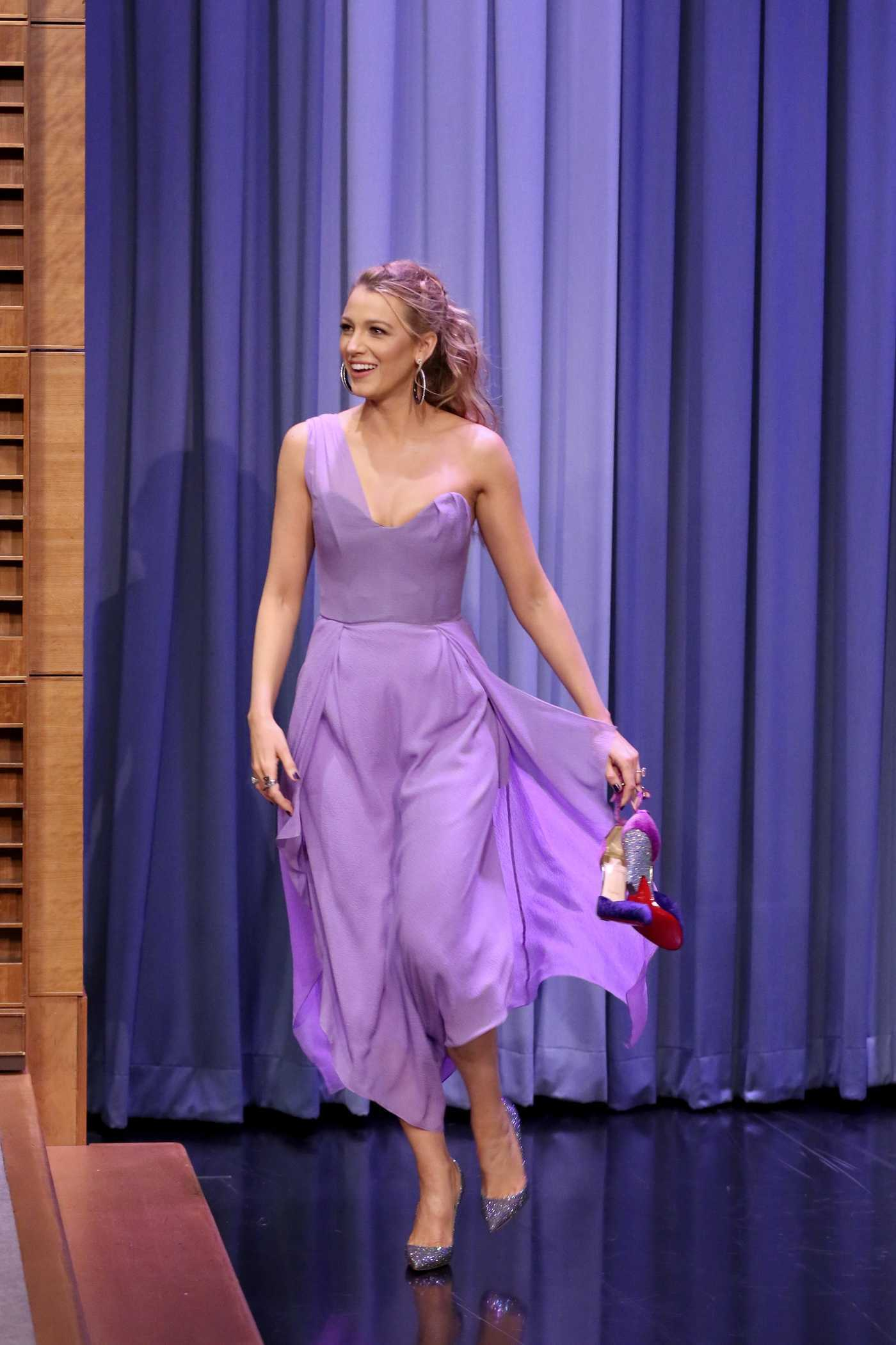 Blake Lively on The Tonight Show Starring Jimmy Fallon in NYC10/13/2017