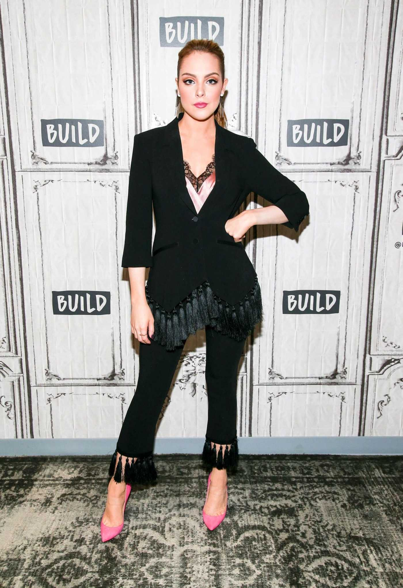 Elizabeth Gillies Visits AOL Build Studio in New York 10/09/2017