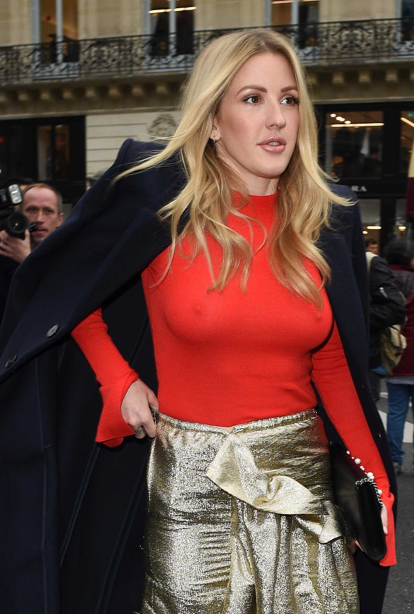 Ellie Goulding Arrives at Stella McCartney Fashion Show During Paris Fashion Week 10/01/2017