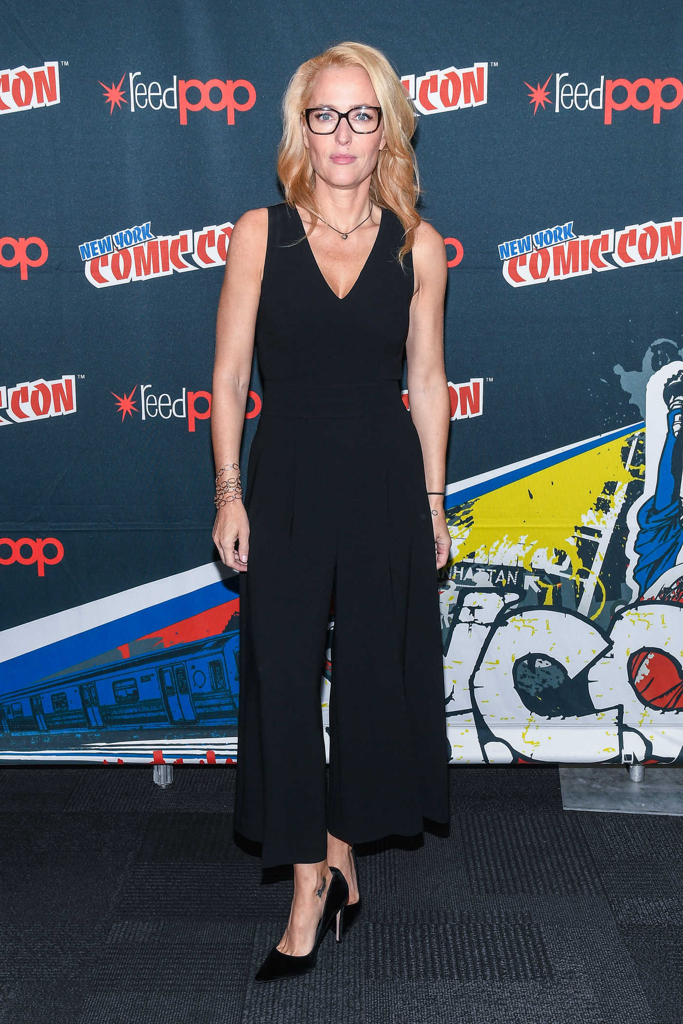 Gillian Anderson at The X-Files Presentation During New York Comic-Con 10/08/2017