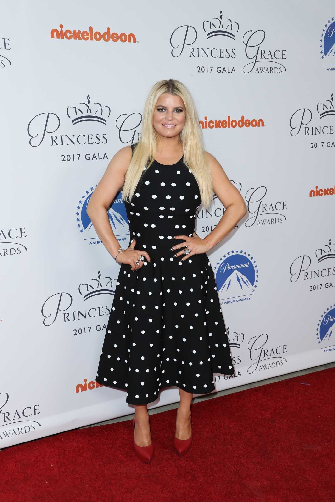 Jessica Simpson at 2017 Princess Grace Awards Gala Kickoff Event in Hollywood 10/24/2017