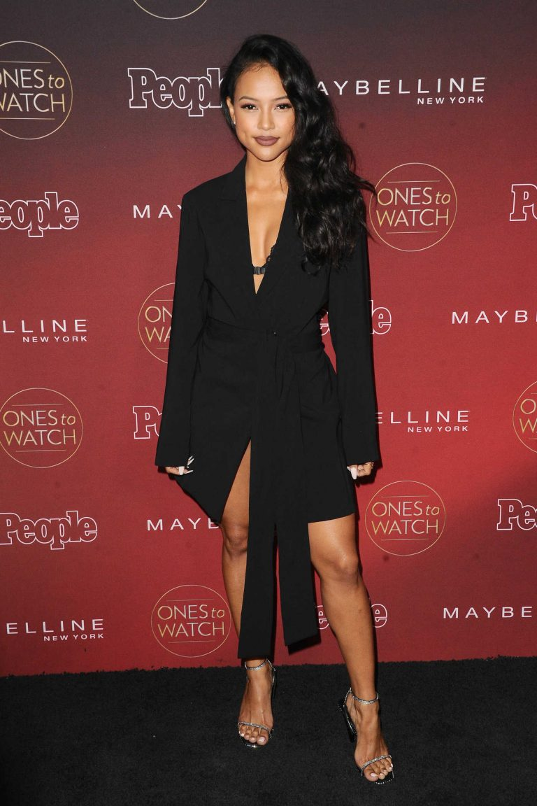 Karrueche Tran at the PEOPLE's Ones to Watch Party in Los Angeles 10/04/2017-1