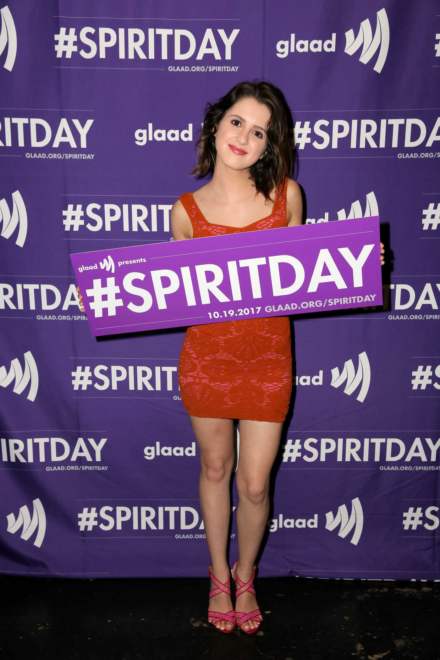 Laura Marano at Justin Tranter and GLAAD Present Believer Spirit Day Concert in LA 10/18/2017