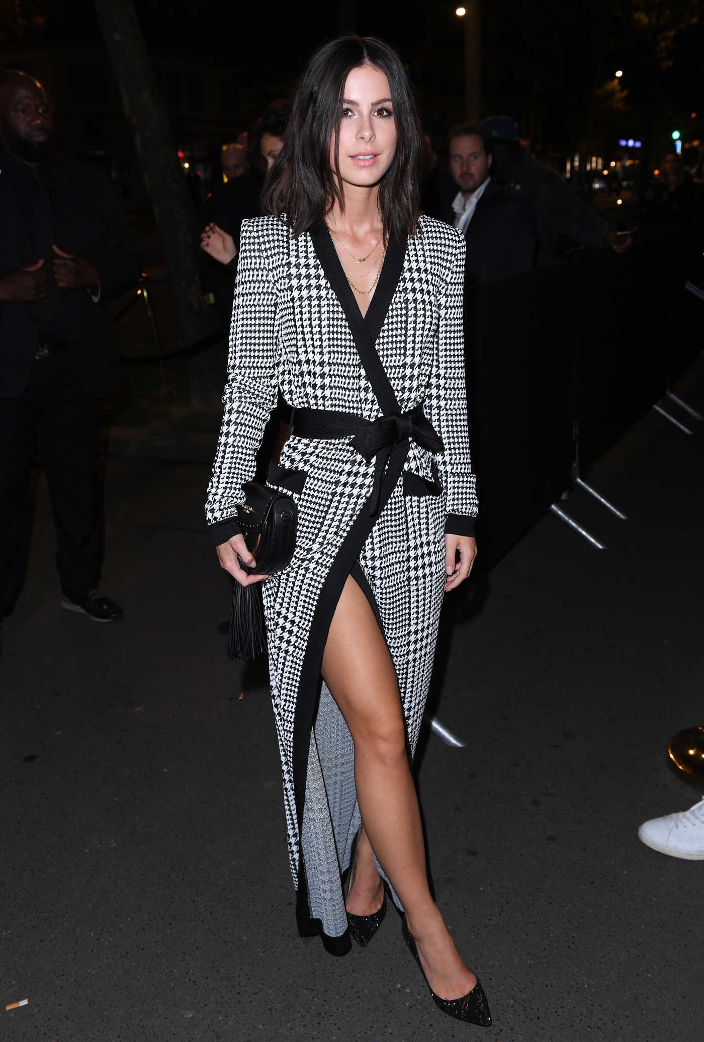 Lena Meyer-Landrut Arrives at the L'Oreal X Balmain Party During Paris Fashion Week 09/28/2017