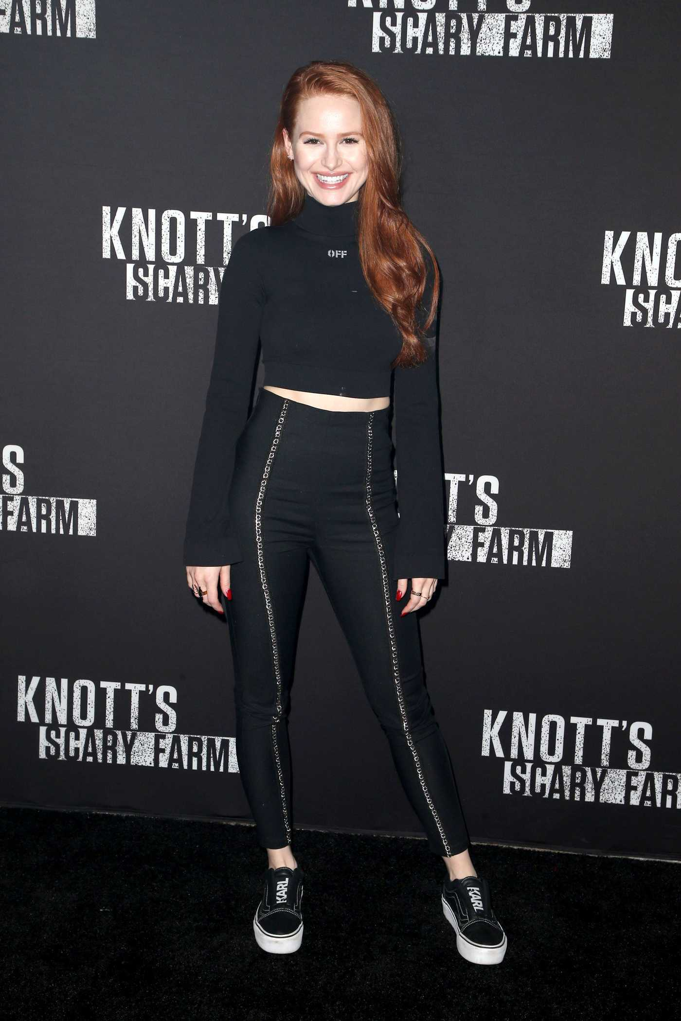 Madelaine Petsch at the Knott's Scary Farm Celebrity Night in Buena Park 09/29/2017