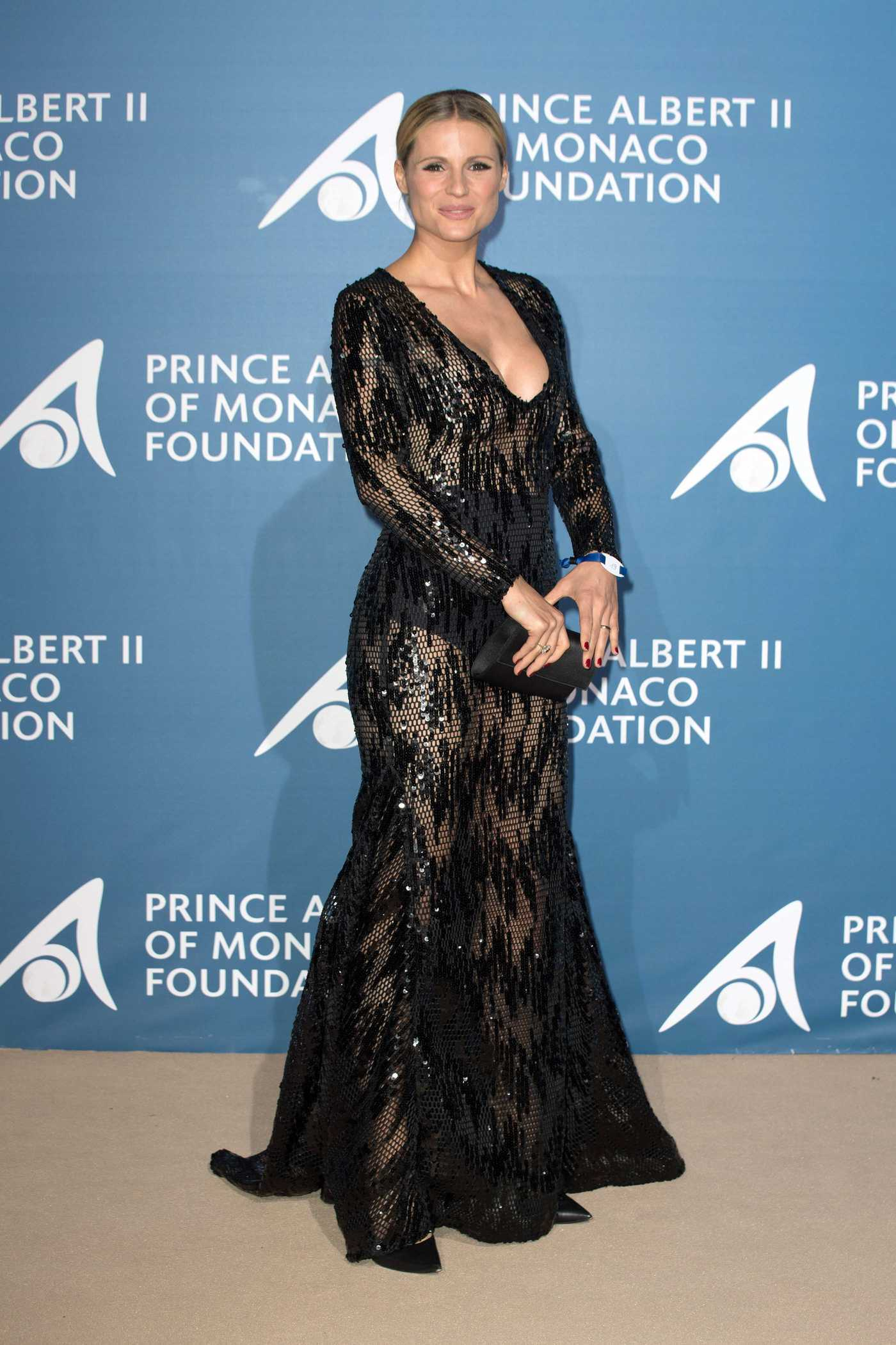 Michelle Hunziker at the Monte Carlo Gala for the Global Ocean in Monte Carlo 09/28/2017
