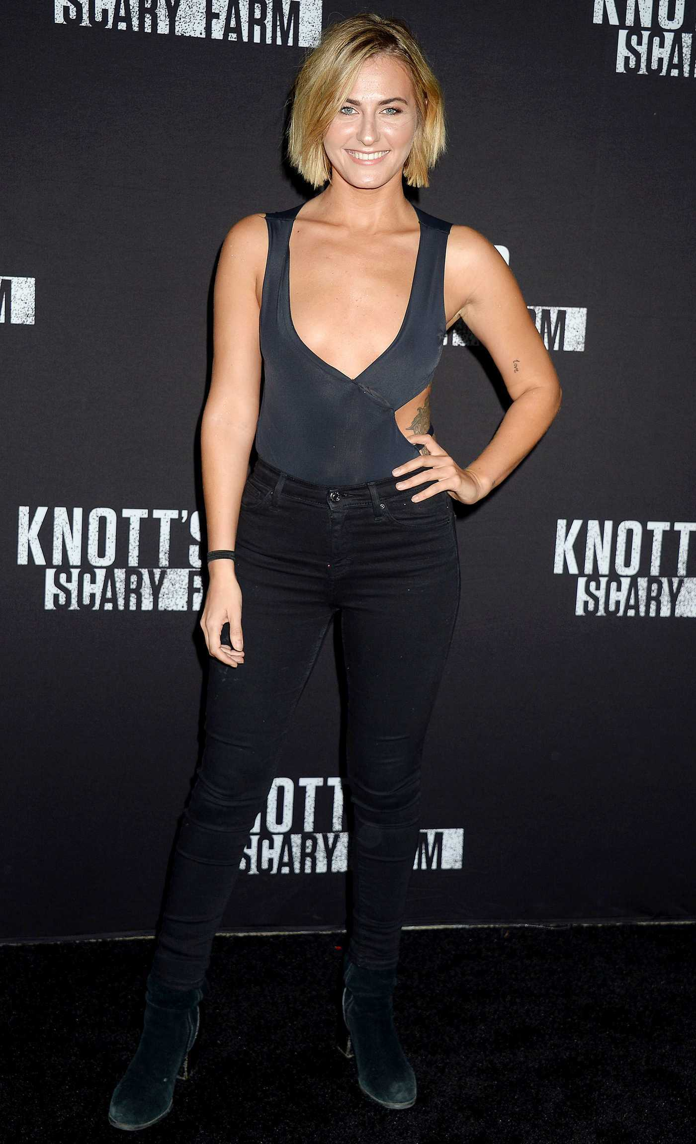 Scout Taylor-Compton at the Knott's Scary Farm Celebrity Night in Buena Park 09/29/2017