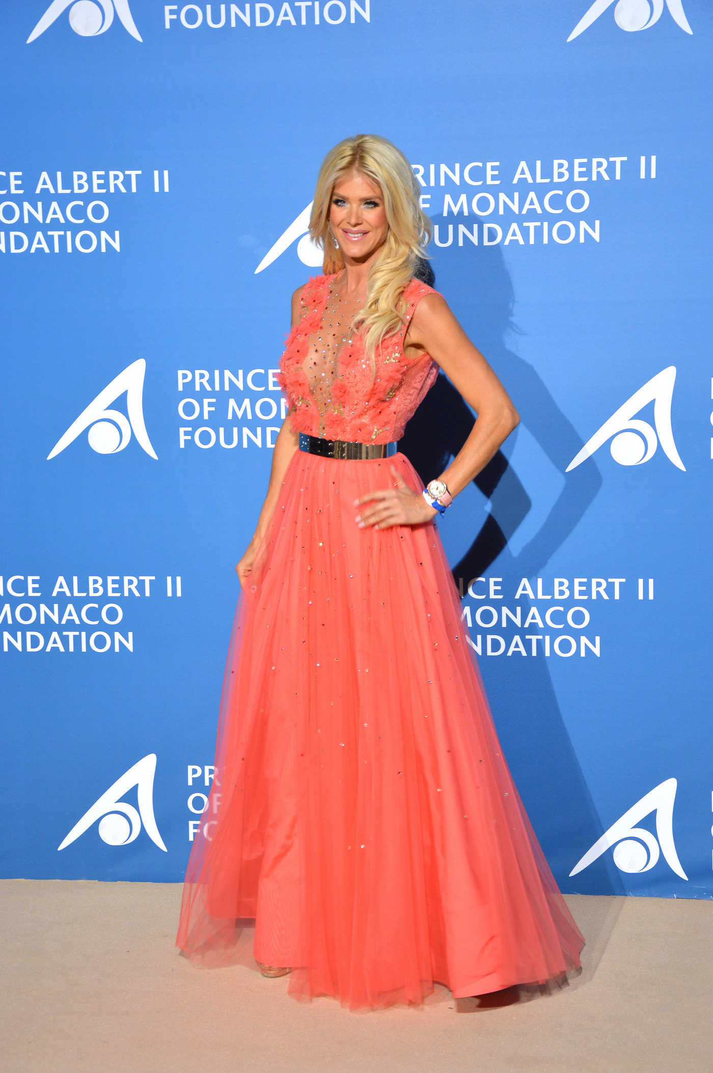 Victoria Silvstedt at the Monte Carlo Gala for the Global Ocean in Monte Carlo 09/28/2017
