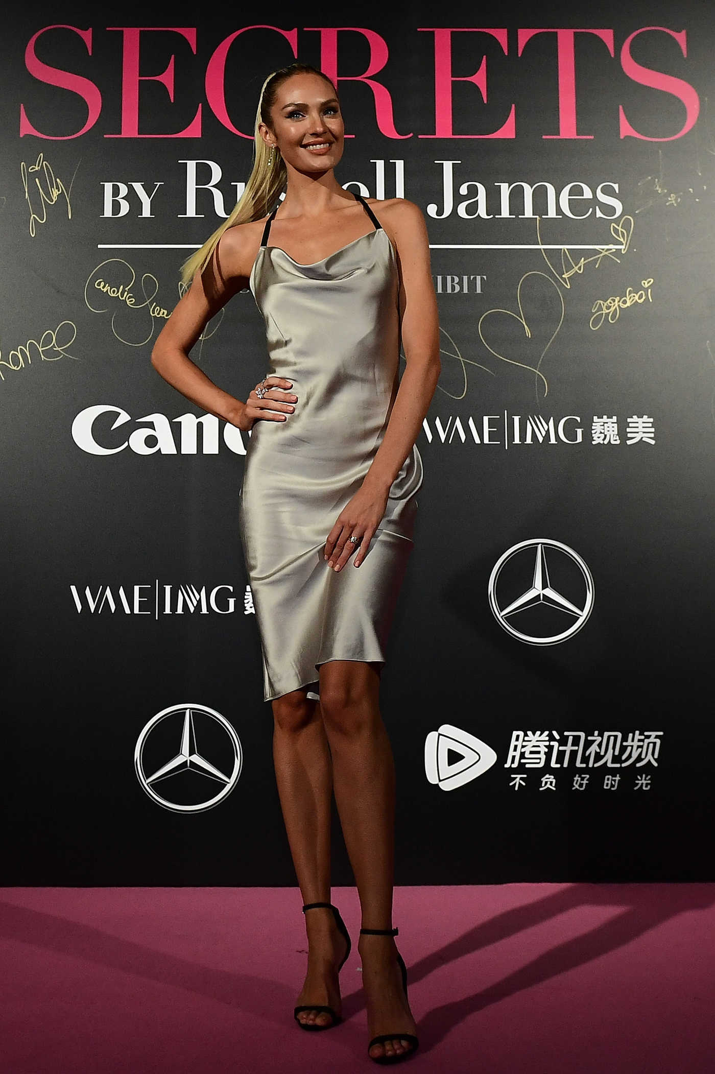 Candice Swanepoel at the Mercedes-Benz Backstage Secrets By Russell James in Shanghai 11/18/2017