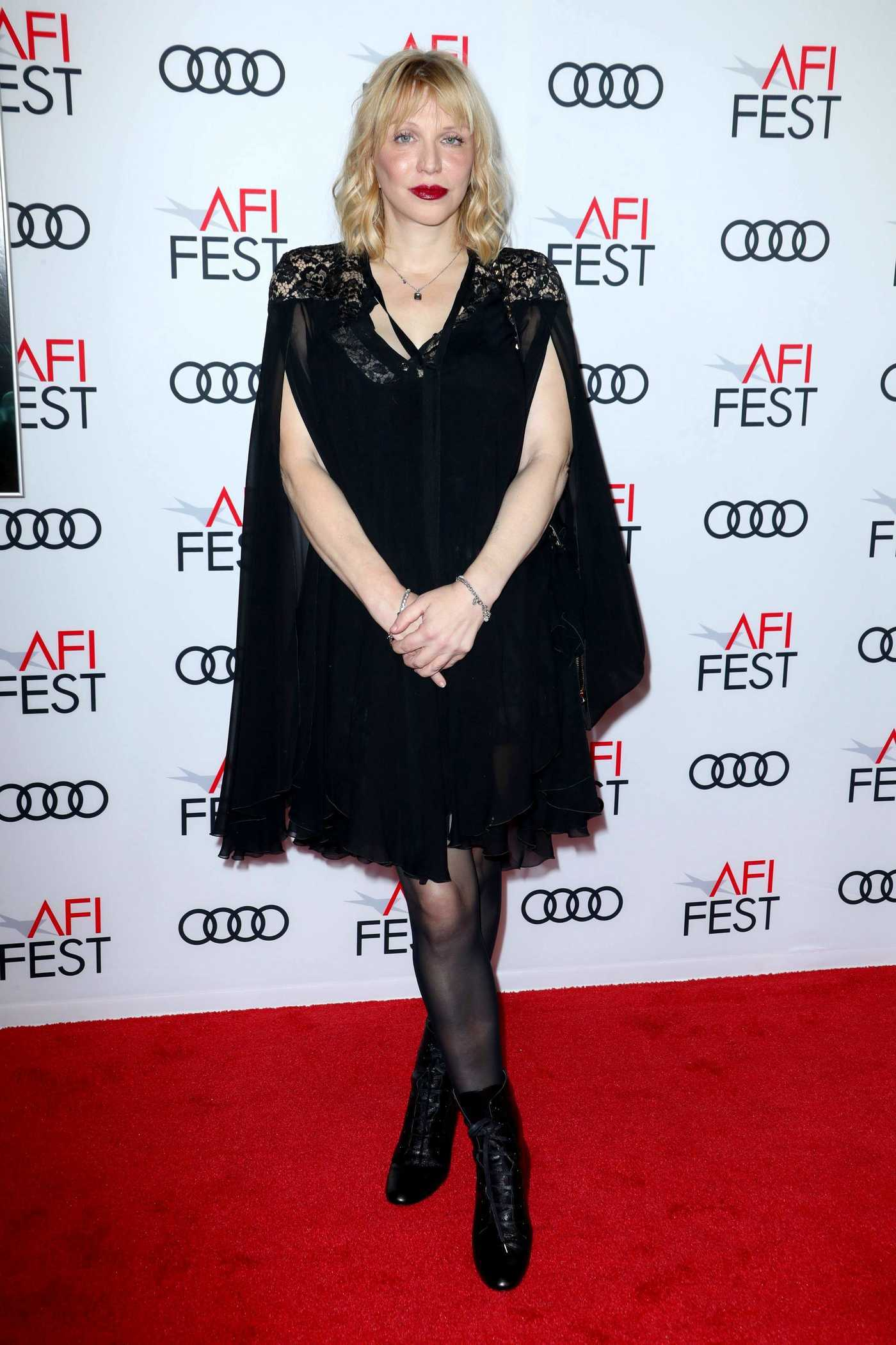 Courtney Love at The Disaster Artist Screening During AFI Festival in Los Angeles 11/12/2017
