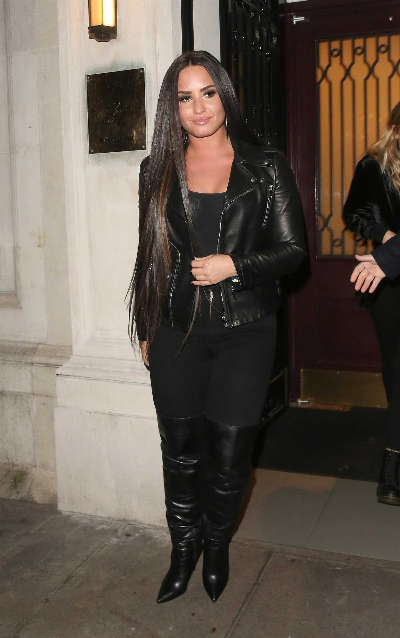 Demi Lovato Leaves the Les Ambassadeurs Club in London 11/14/2017