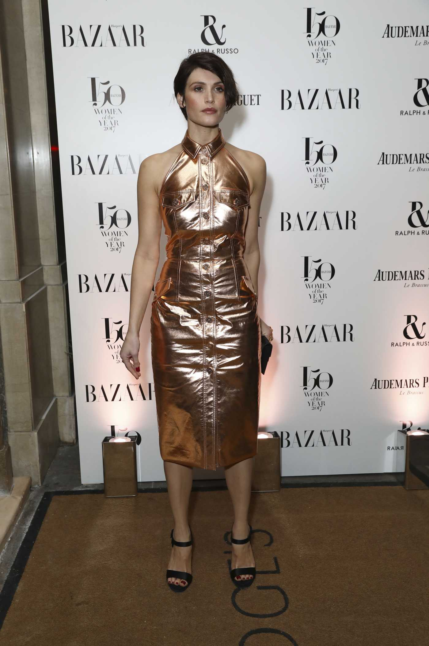 Gemma Arterton at the Harper's Bazaar Women of the Year Awards in London 11/02/2017