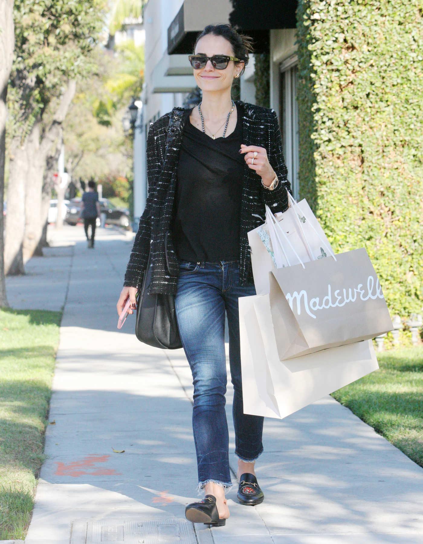 Jordana Brewster Goes Shopping in Beverly Hills 11/09/2017