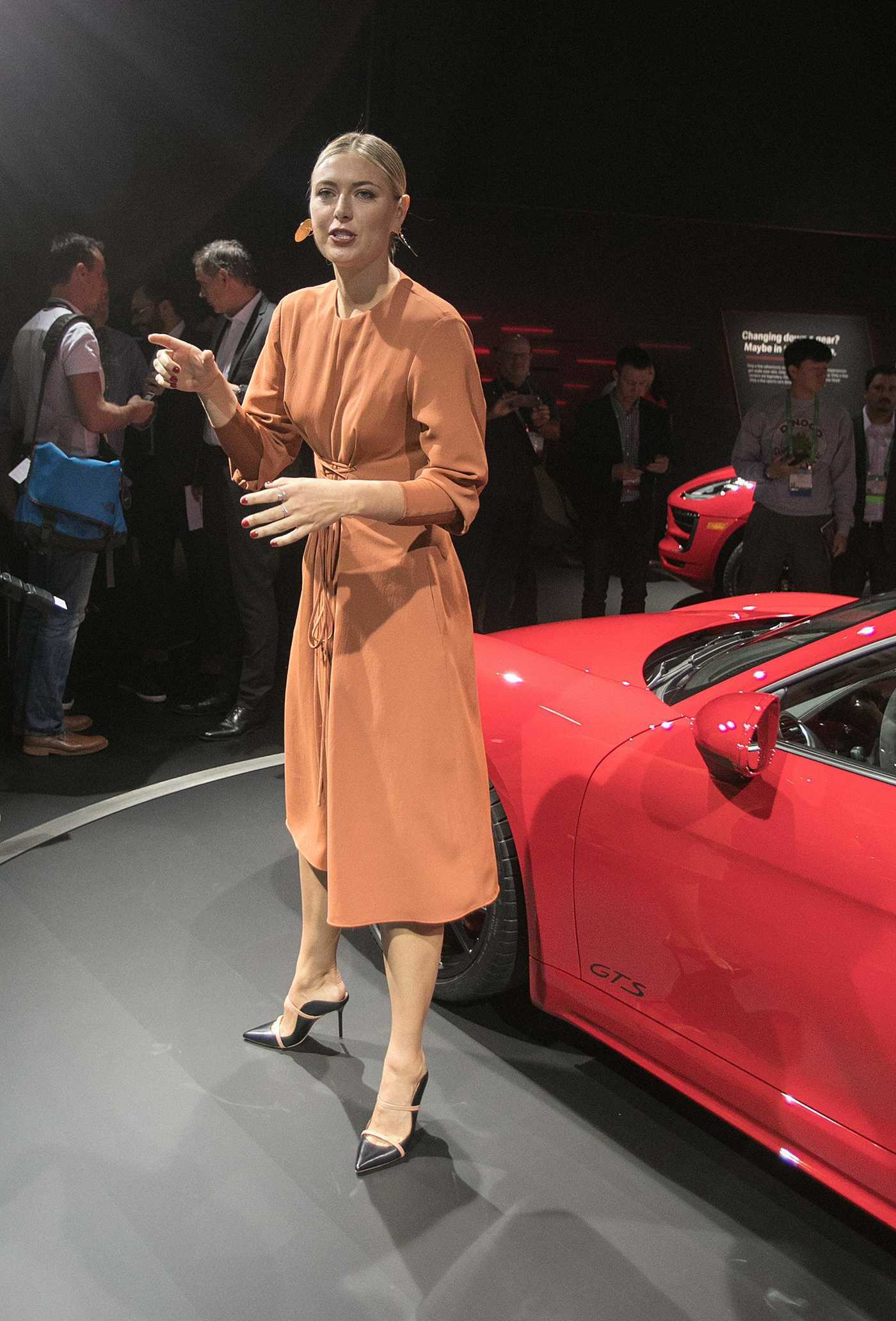Maria Sharapova Unveiling of the 2018 Porsche 718 Cayman GTS at the LA Auto Show 11/29/2017