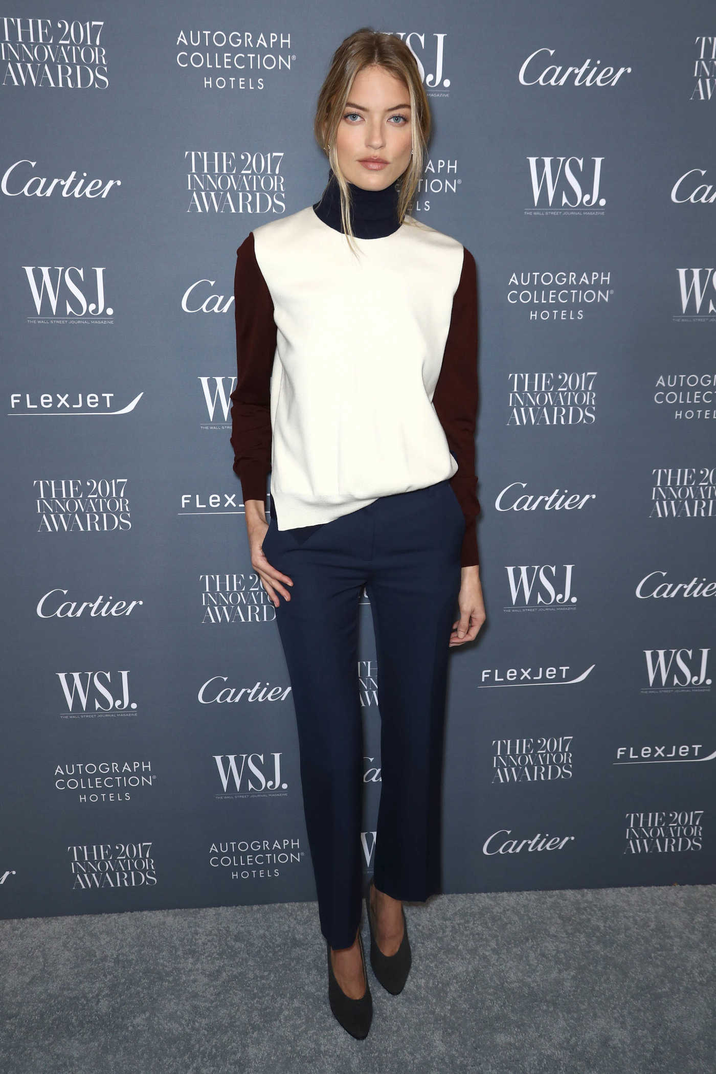 Martha Hunt at the WSJ Innovator Awards in NYC 11/01/2017
