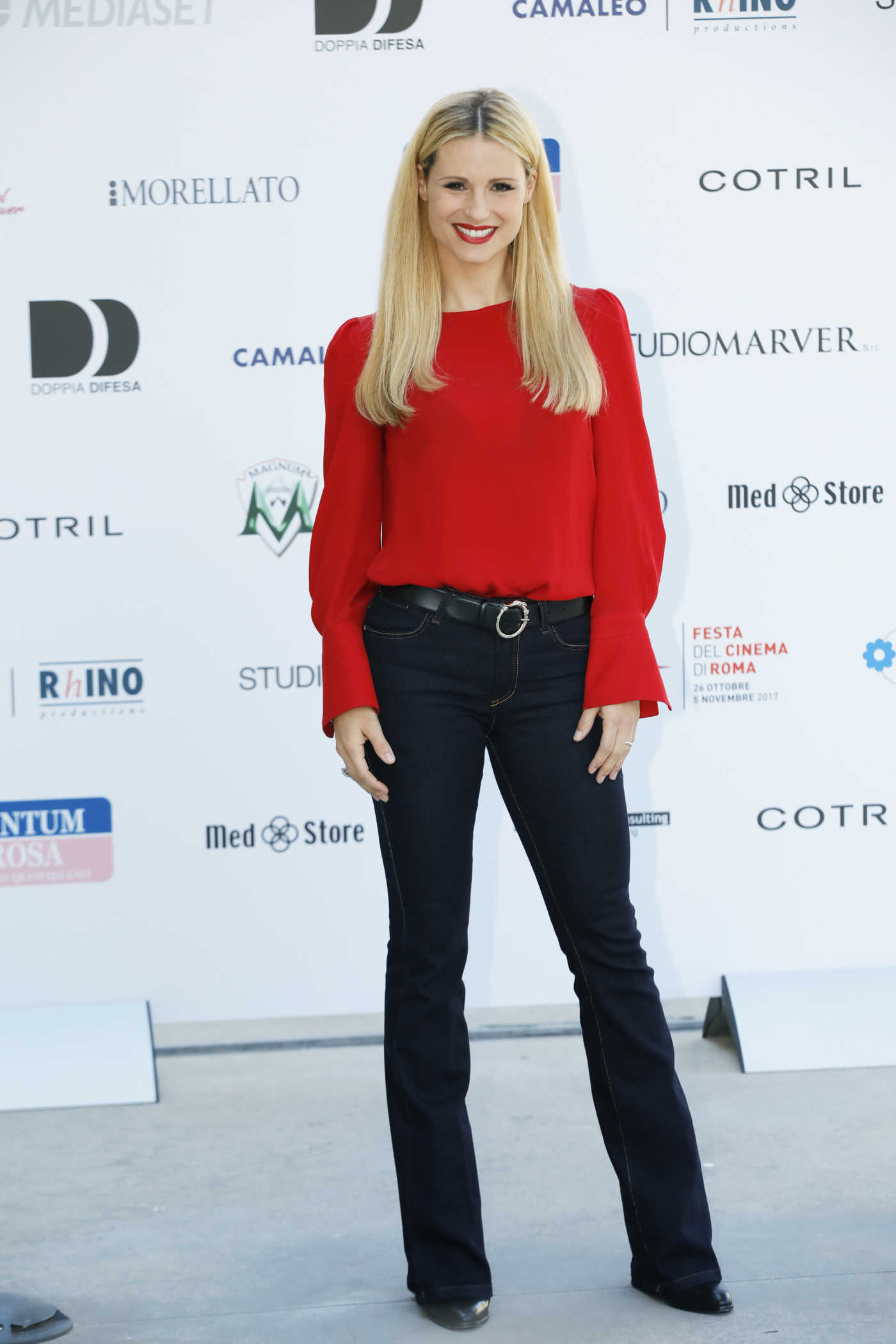 Michelle Hunziker at the Double Defense Killed in a Waiting for Judgement Photocall in Rome 11/01/2017