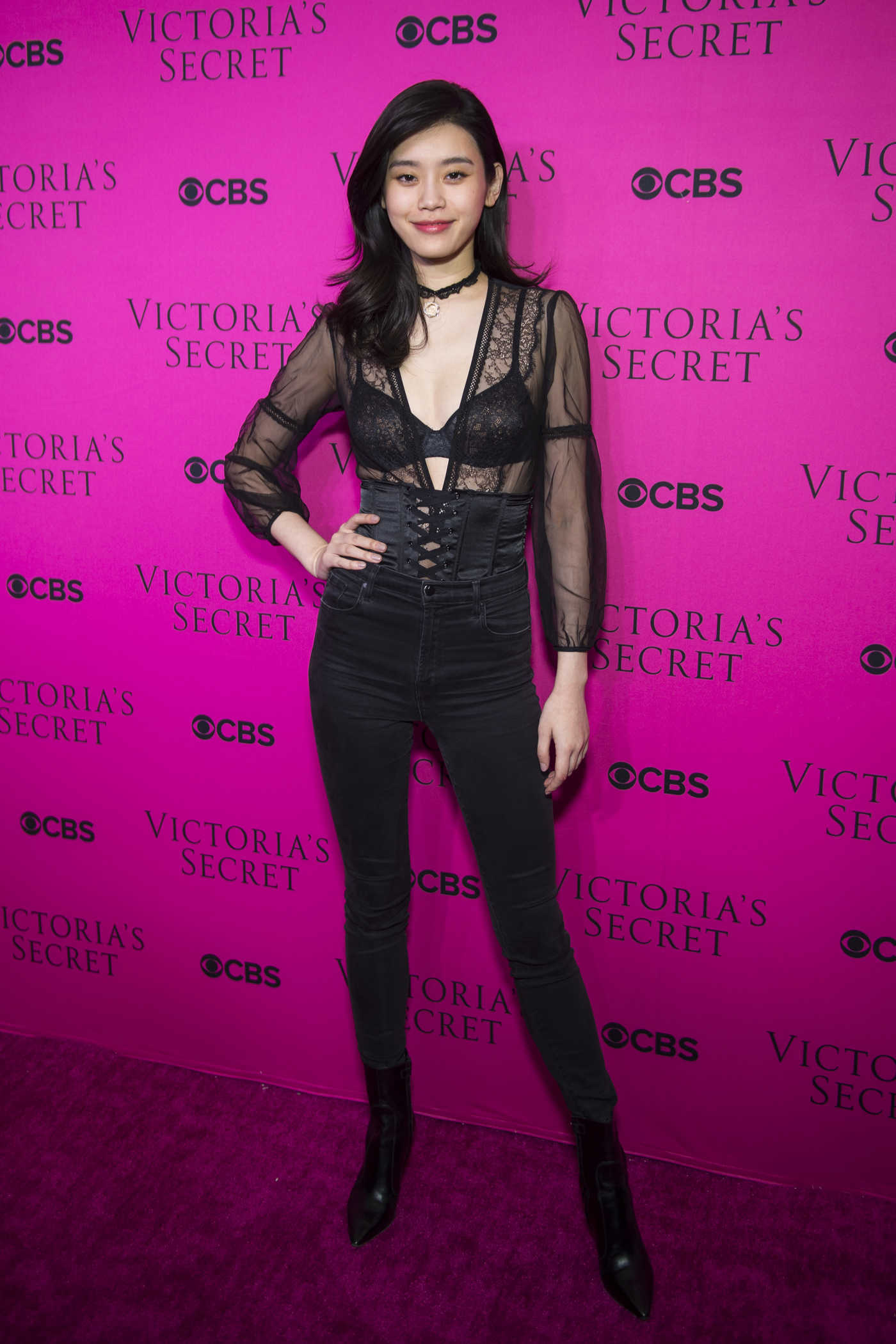 Ming Xi at 2017 Victoria's Secret Fashion Show Viewing Party in New York City 11/28/2017