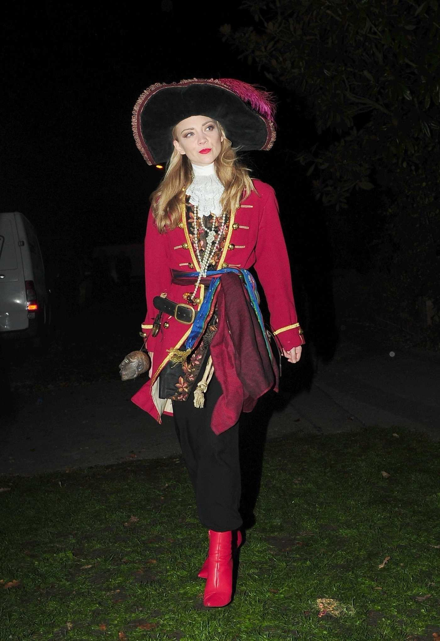 Natalie Dormer Arrives at Johnathan Ross Halloween Party in London 10/31/2017