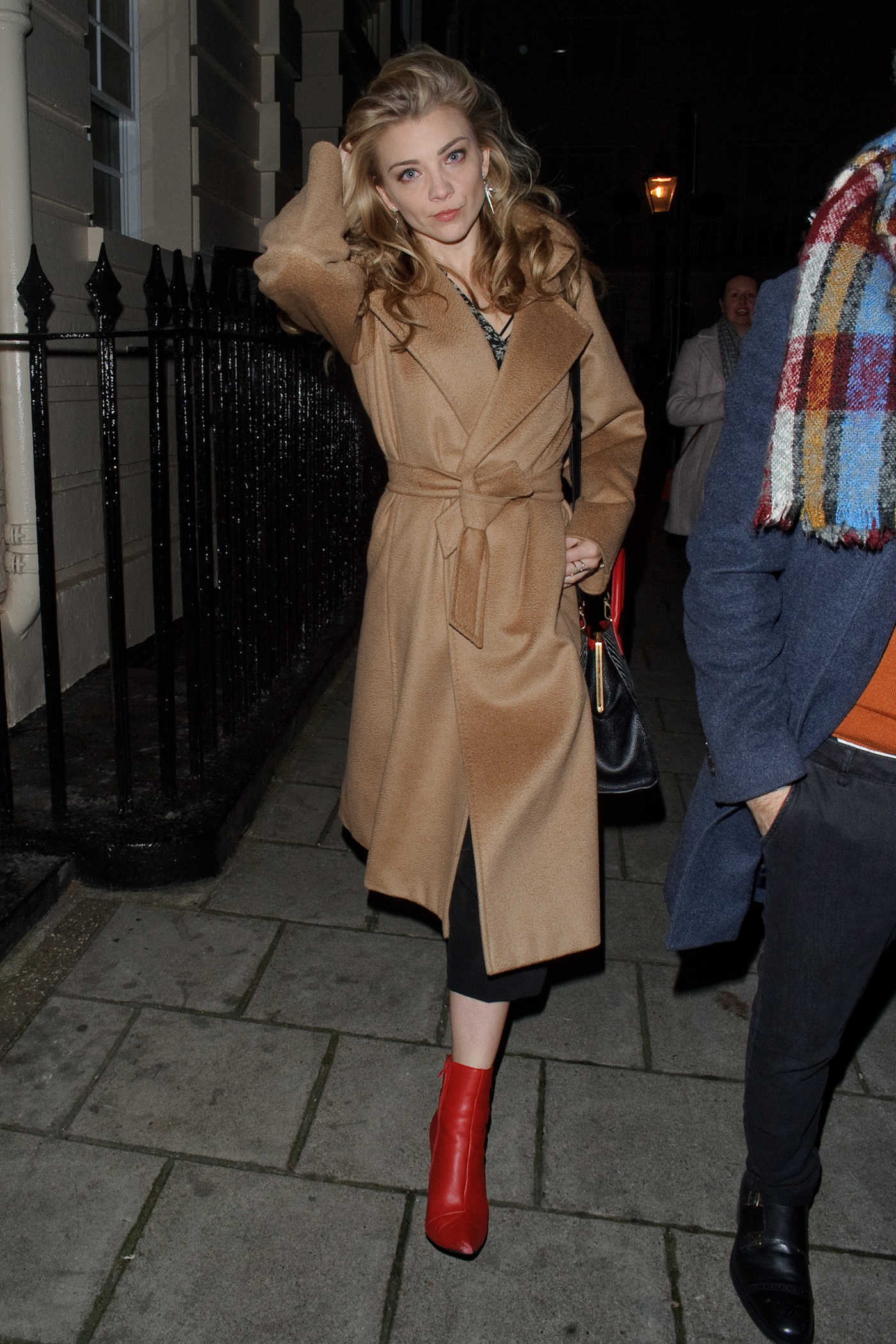Natalie Dormer Leaves the Haymarket Theatre After Performing in Venus in Fur in London 11/25/2017