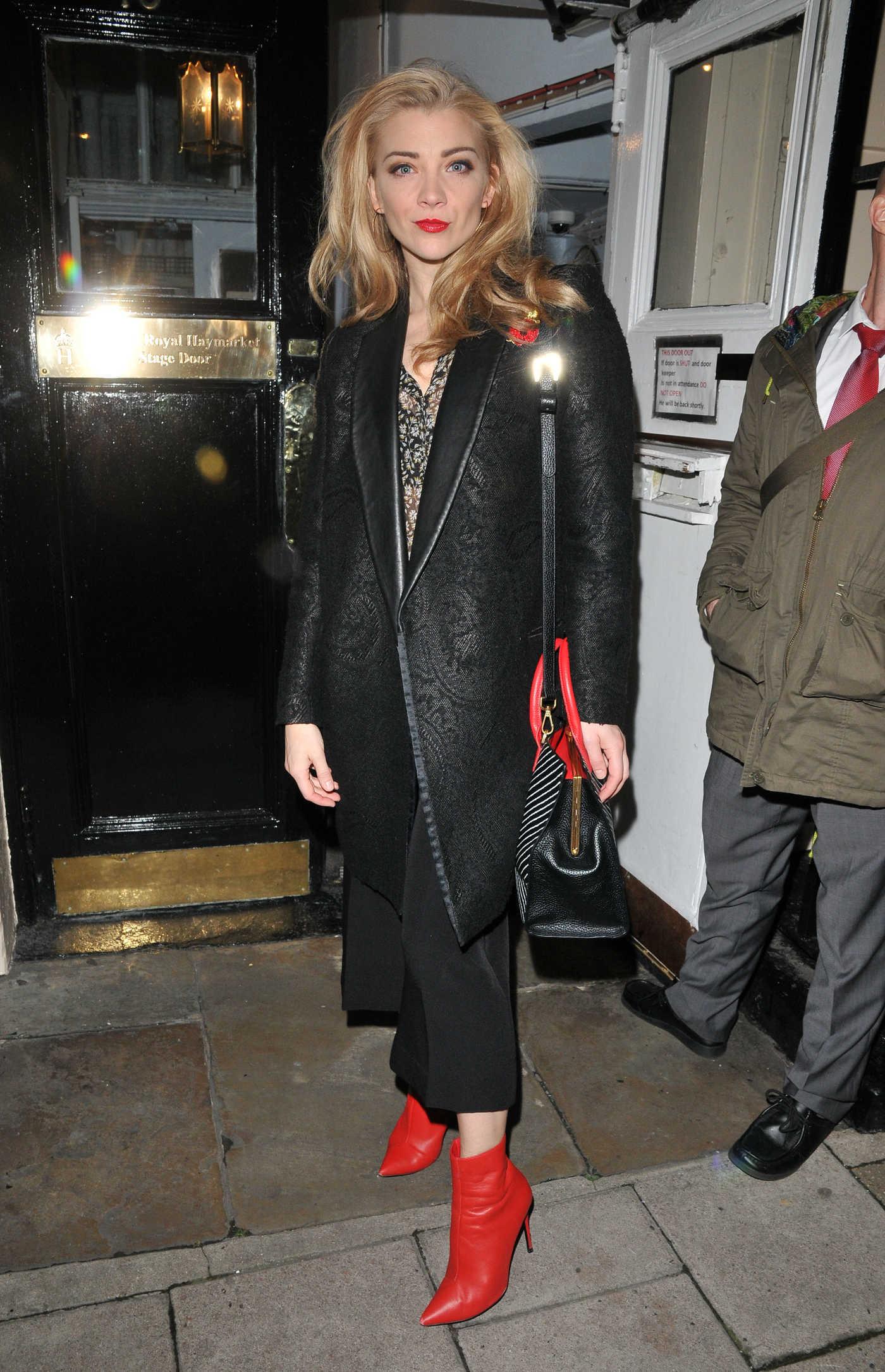 Natalie Dormer Leaves the Royal Haymarket Theatre in London 11/11/2017