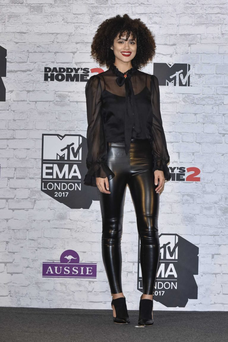 Nathalie Emmanuel at the 24th MTV Europe Music Awards in London 11/12/2017-1