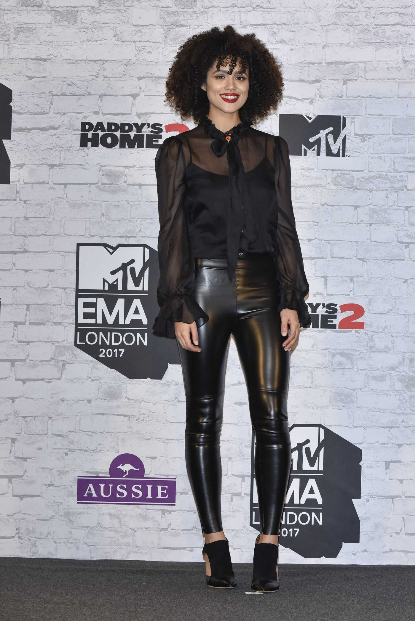 Nathalie Emmanuel at the 24th MTV Europe Music Awards in London 11/12/2017