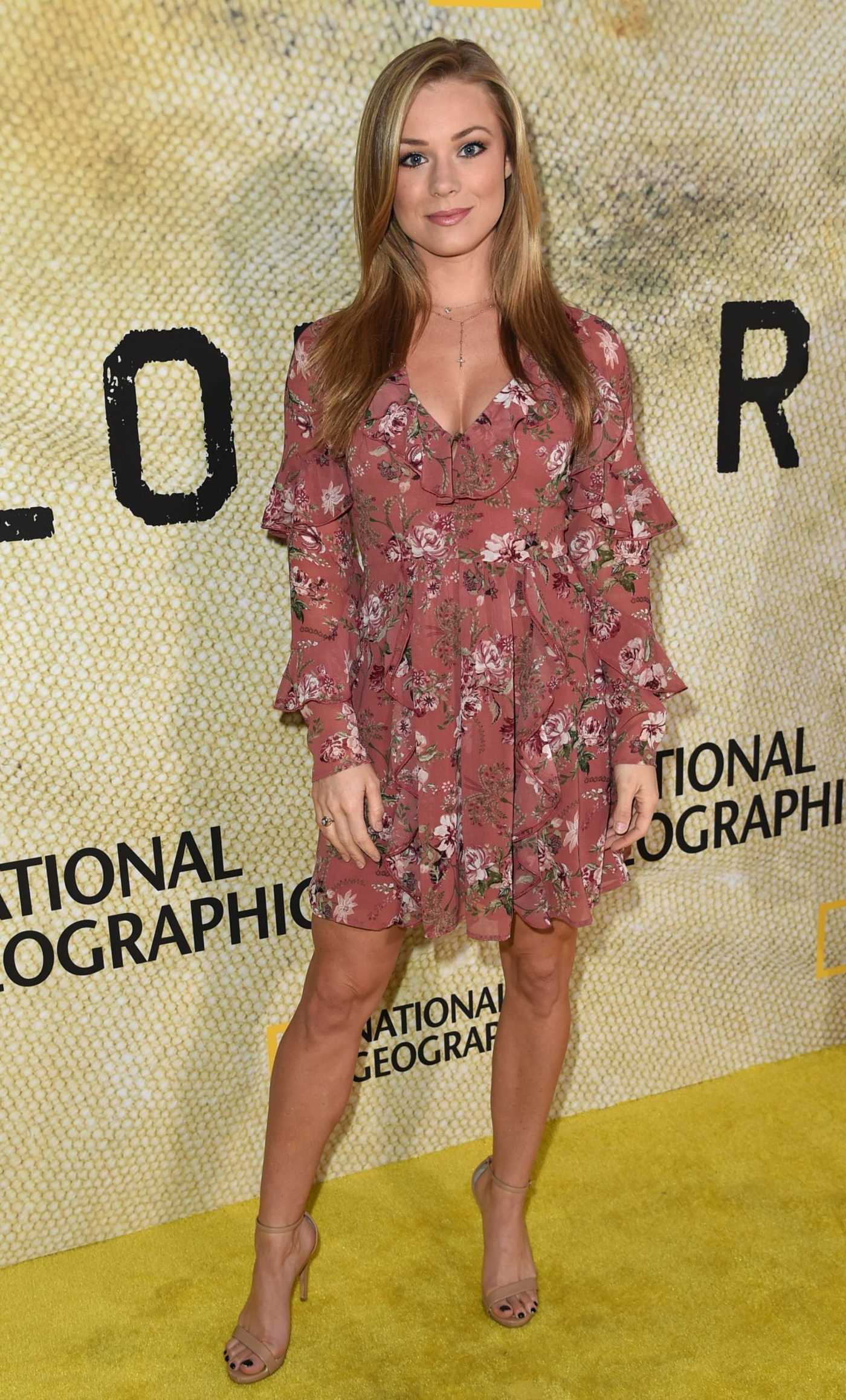 Nikki Leigh at The Long Road Home Premiere in LA 10/30/2017