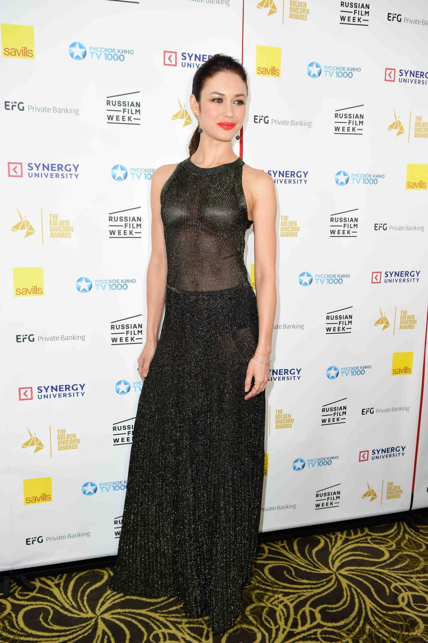 Olga Kurylenko at the Golden Unicorn Awards in London 11/25/2017