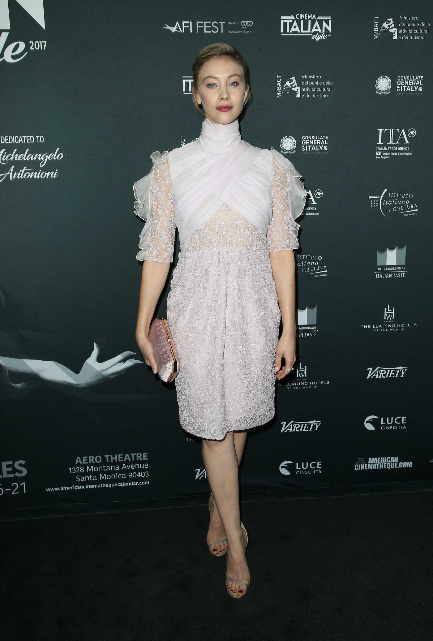 Sarah Gadon at Cinema Italian Style 2017 Opening Night Gala Premiere of A Ciambra in Hollywood 11/16/2017