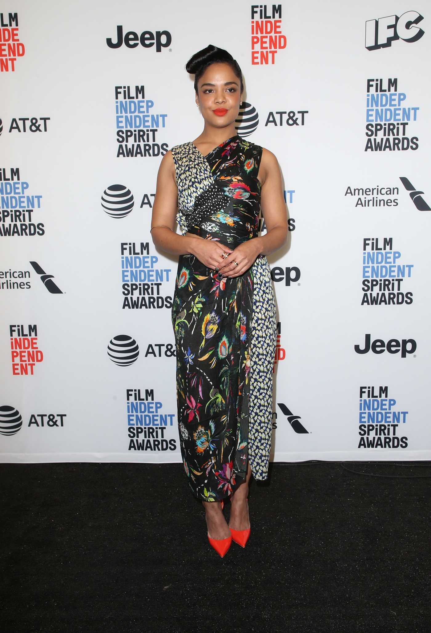 Tessa Thompson at the 33th Film Independent Spirit Awards Nominees Announcement at the Jeremy Hotel in West Hollywood 11/21/2017