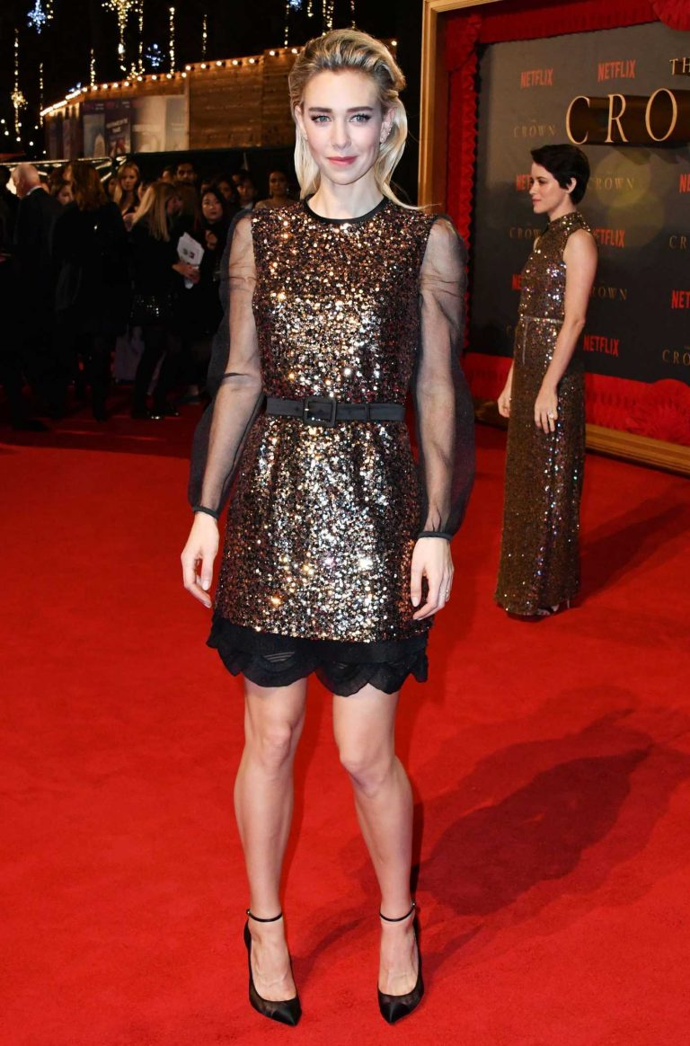 Vanessa Kirby at The Crown 2 World Premiere at Odeon Leicester Square in London 11/21/2017-1