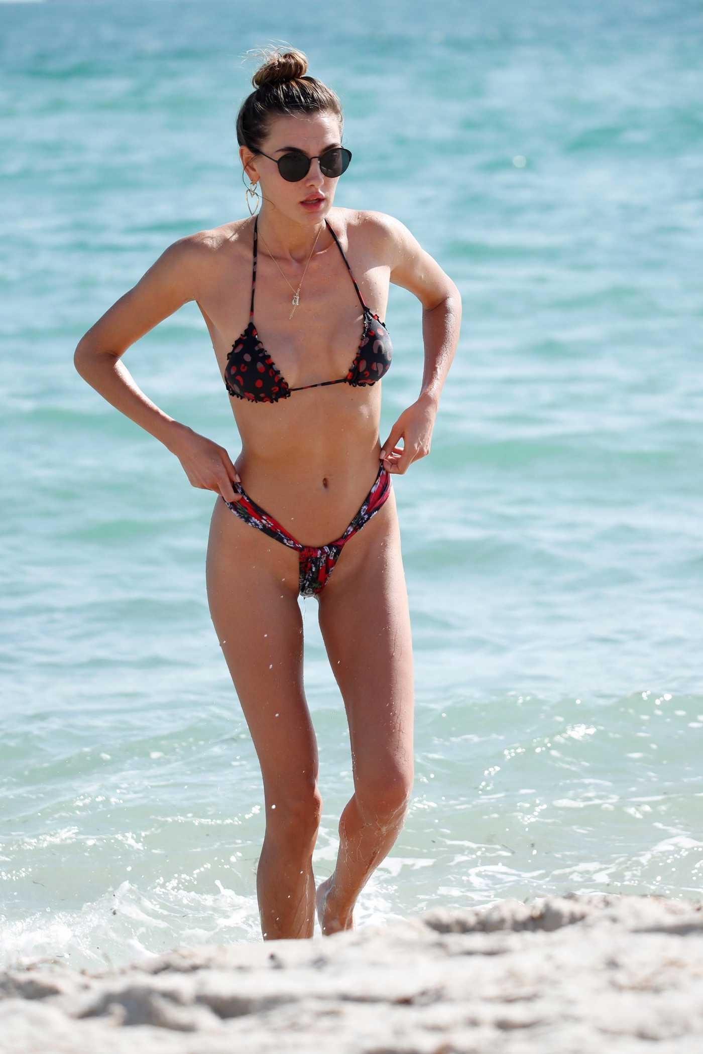 Alina Baikova in Bikini at the Beach in Miami 12/08/2017