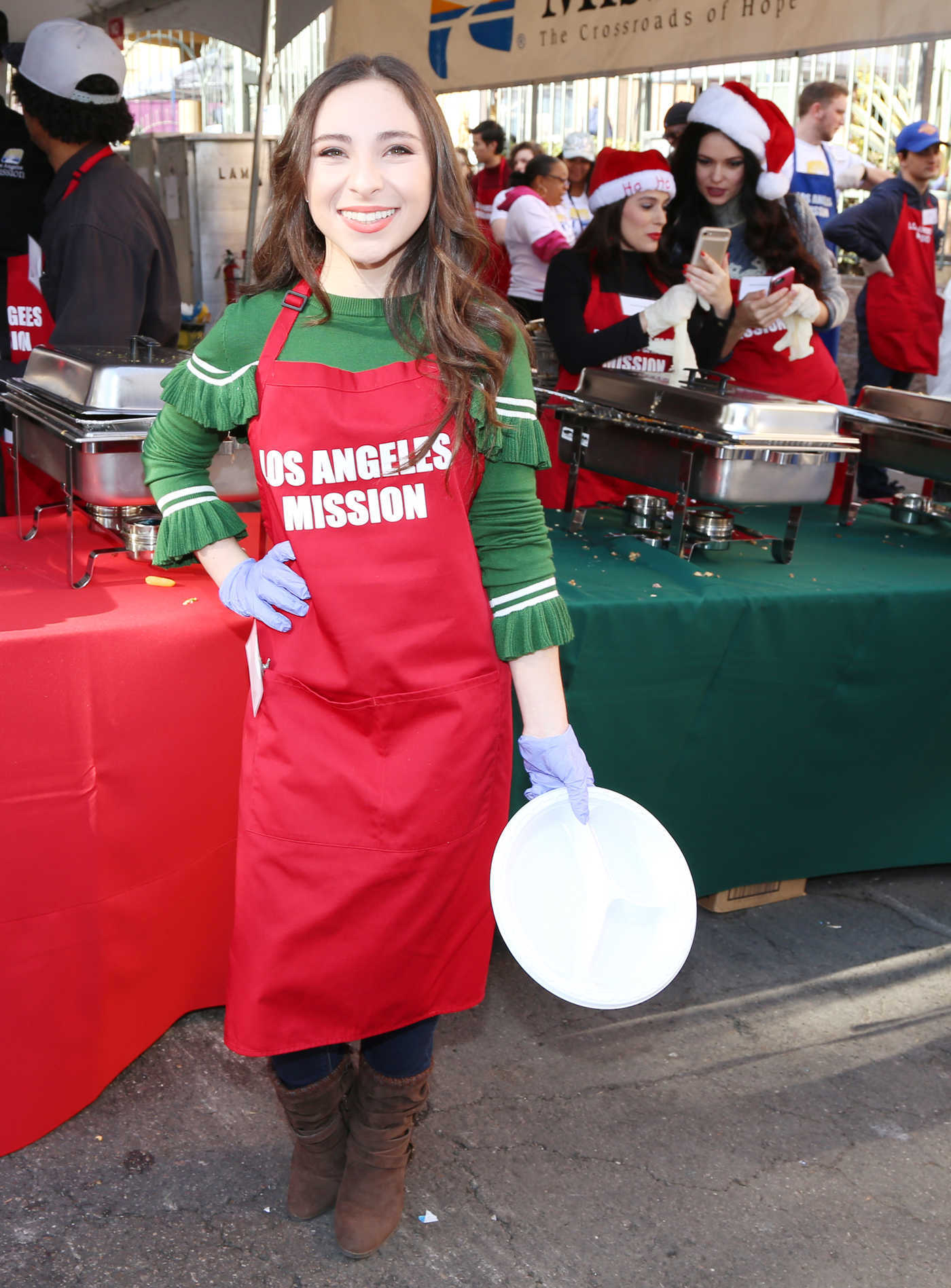 Ava Cantrell at Los Angeles Mission's Christmas Celebration on Skid Row 12/22/2017
