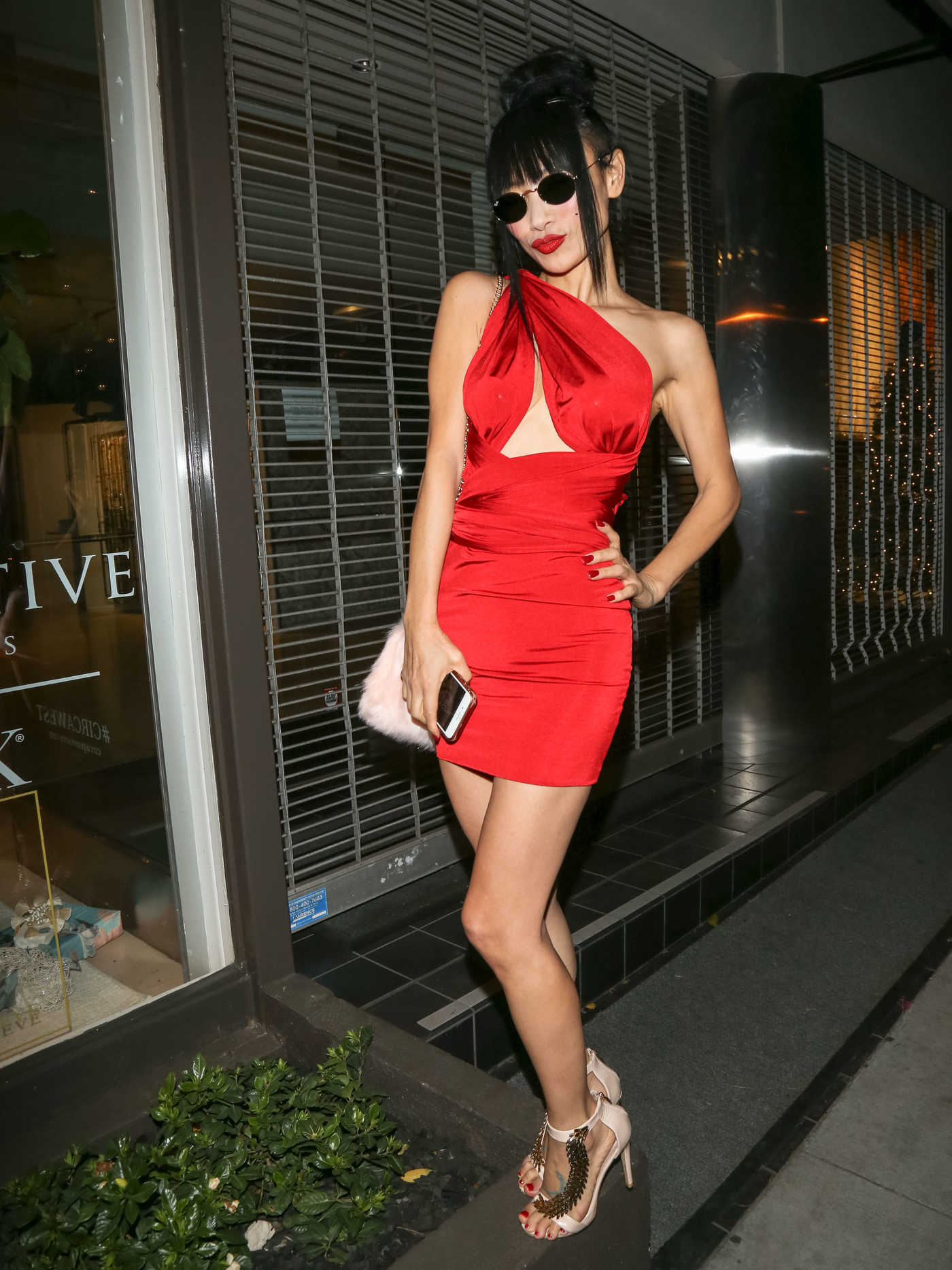 Bai Ling Leaves Craig's Restaurant in West Hollywood 12/22/2017