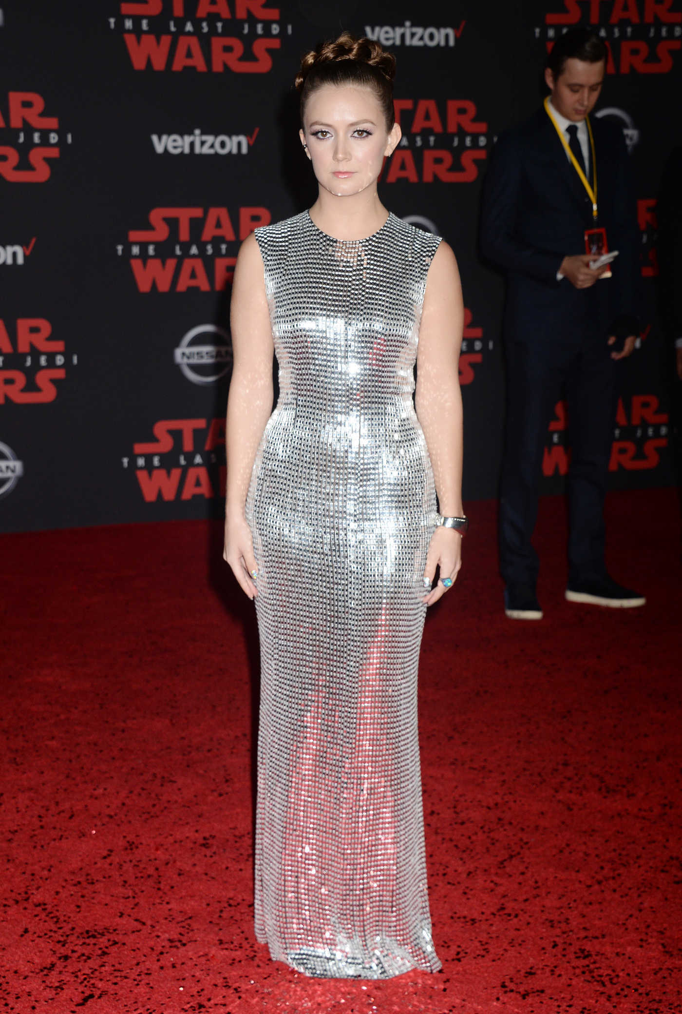 Billie Lourd at the Star Wars: The Last Jedi Premiere in Los Angeles 12/09/2017