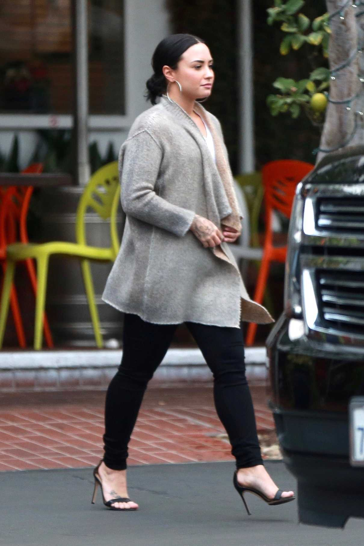 Demi Lovato Leaves Fred Segal After Christmas Shopping in West Hollywood 12/20/2017