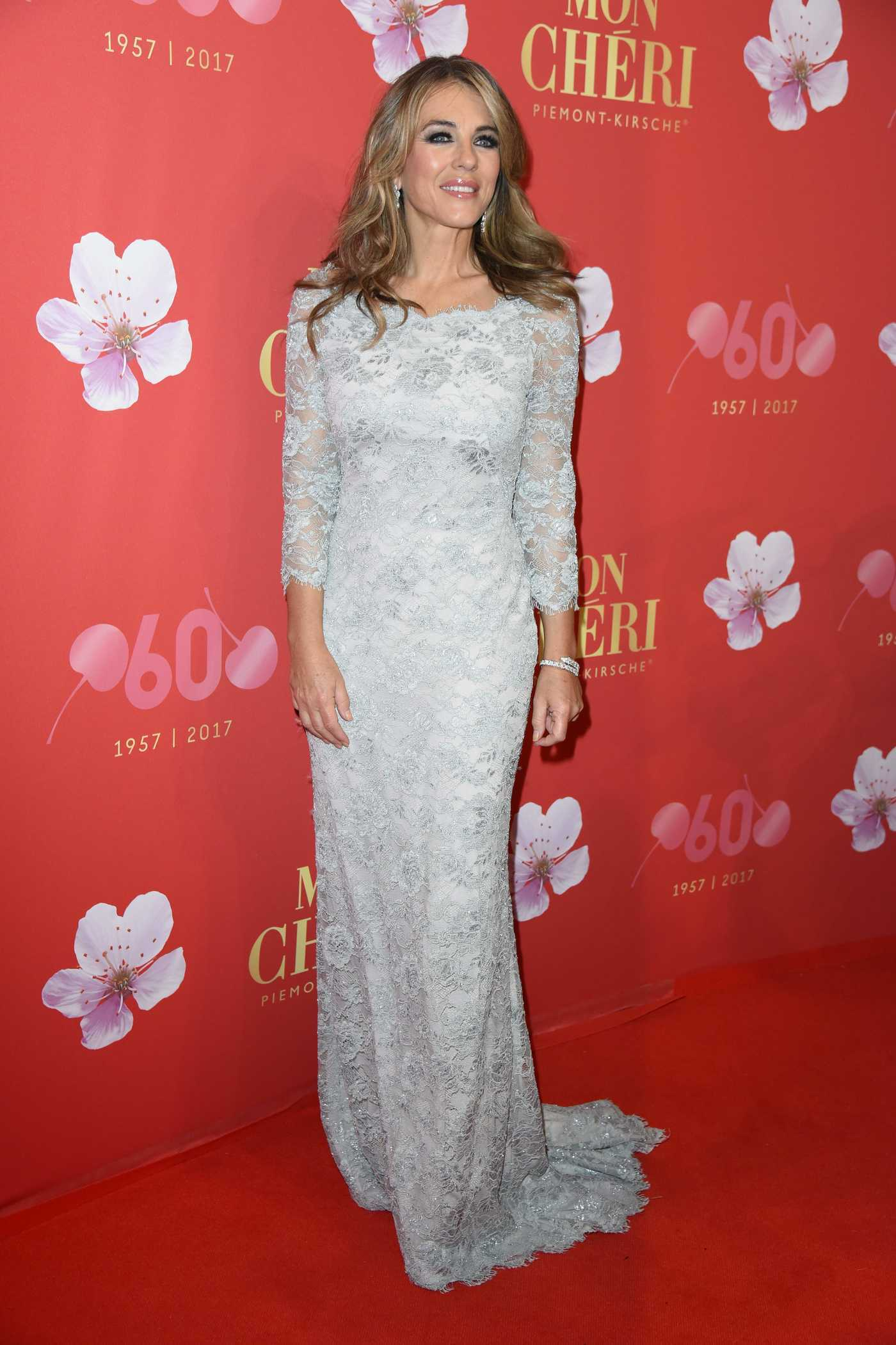 Elizabeth Hurley at the Mon Cheri Barbara's Day in Munich 11/30/2017