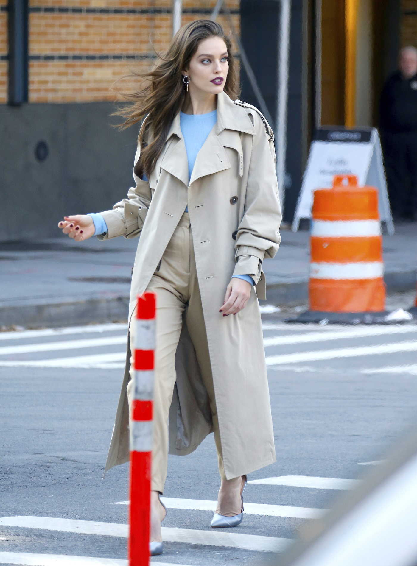 Emily DiDonato Was Seen Out in Tribeca, NYC 12/11/2017