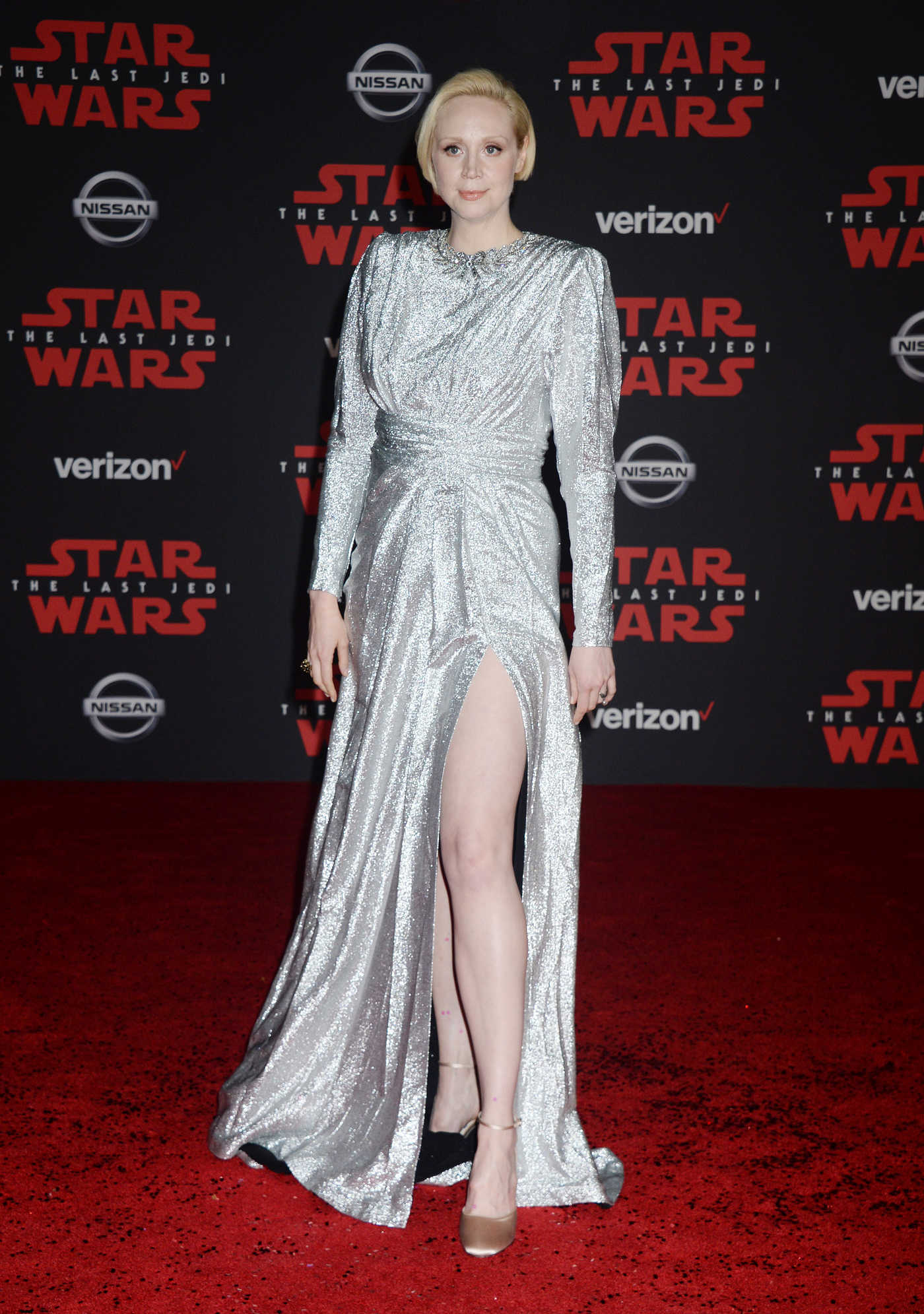 Gwendoline Christie at the Star Wars: The Last Jedi Premiere in Los Angeles 12/09/2017