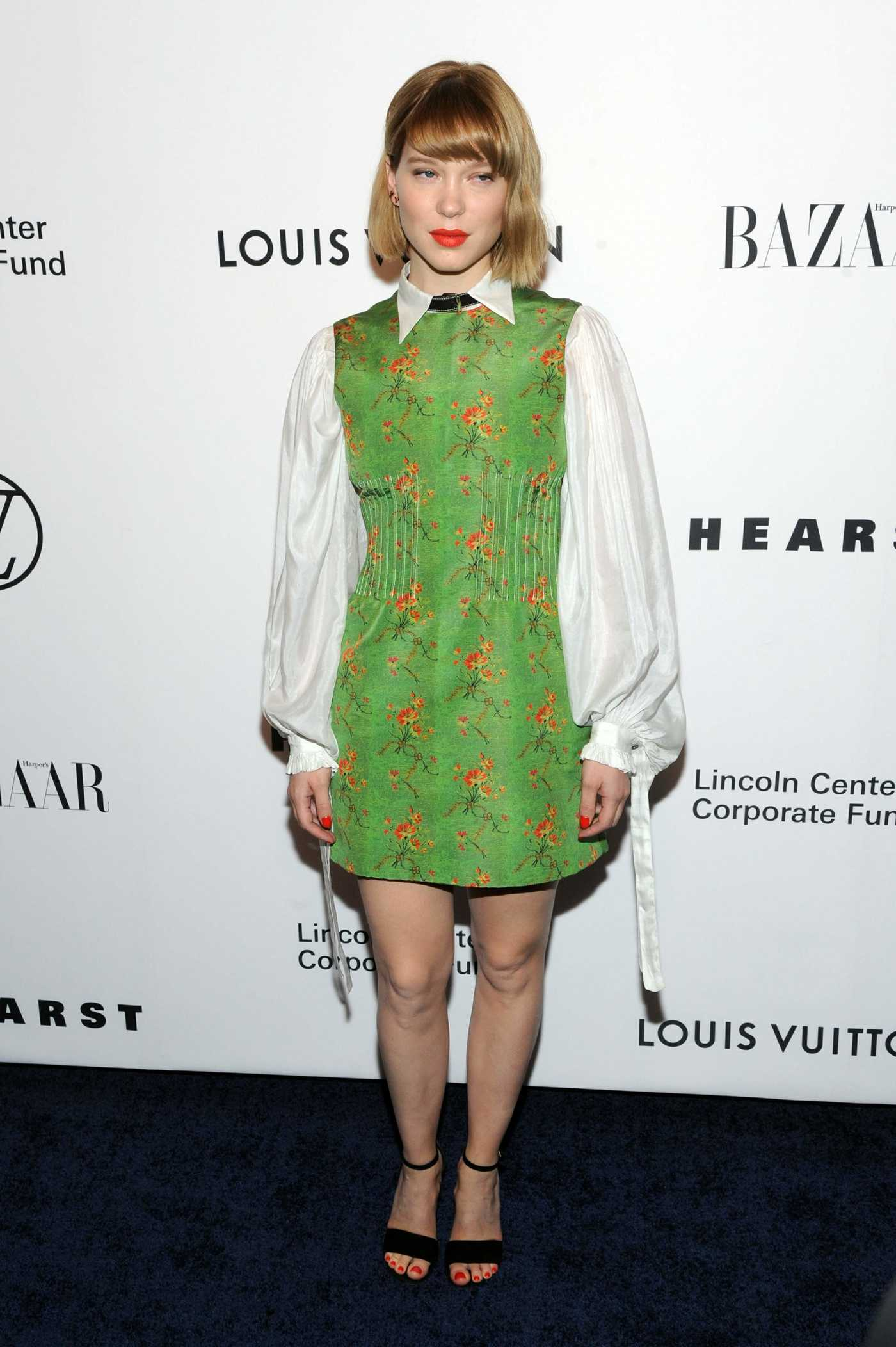 Lea Seydoux Attends an Evening Honoring Louis Vuitton and Nicolas Ghesquiere in New York City 11/30/2017