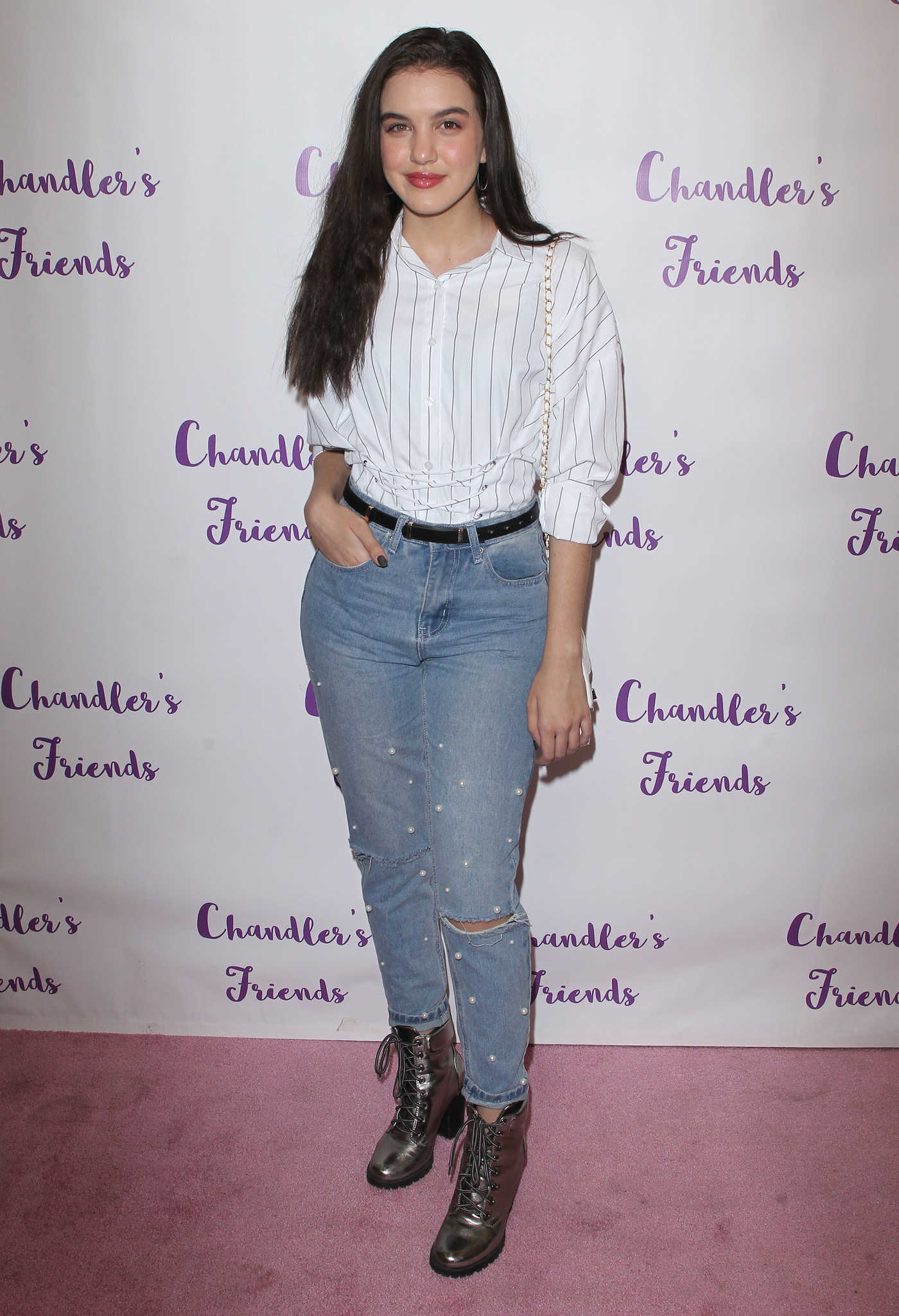 Lilimar at the Chandler's Friends Toy Drive and Wrapping Party in Los Angeles 12/10/2017