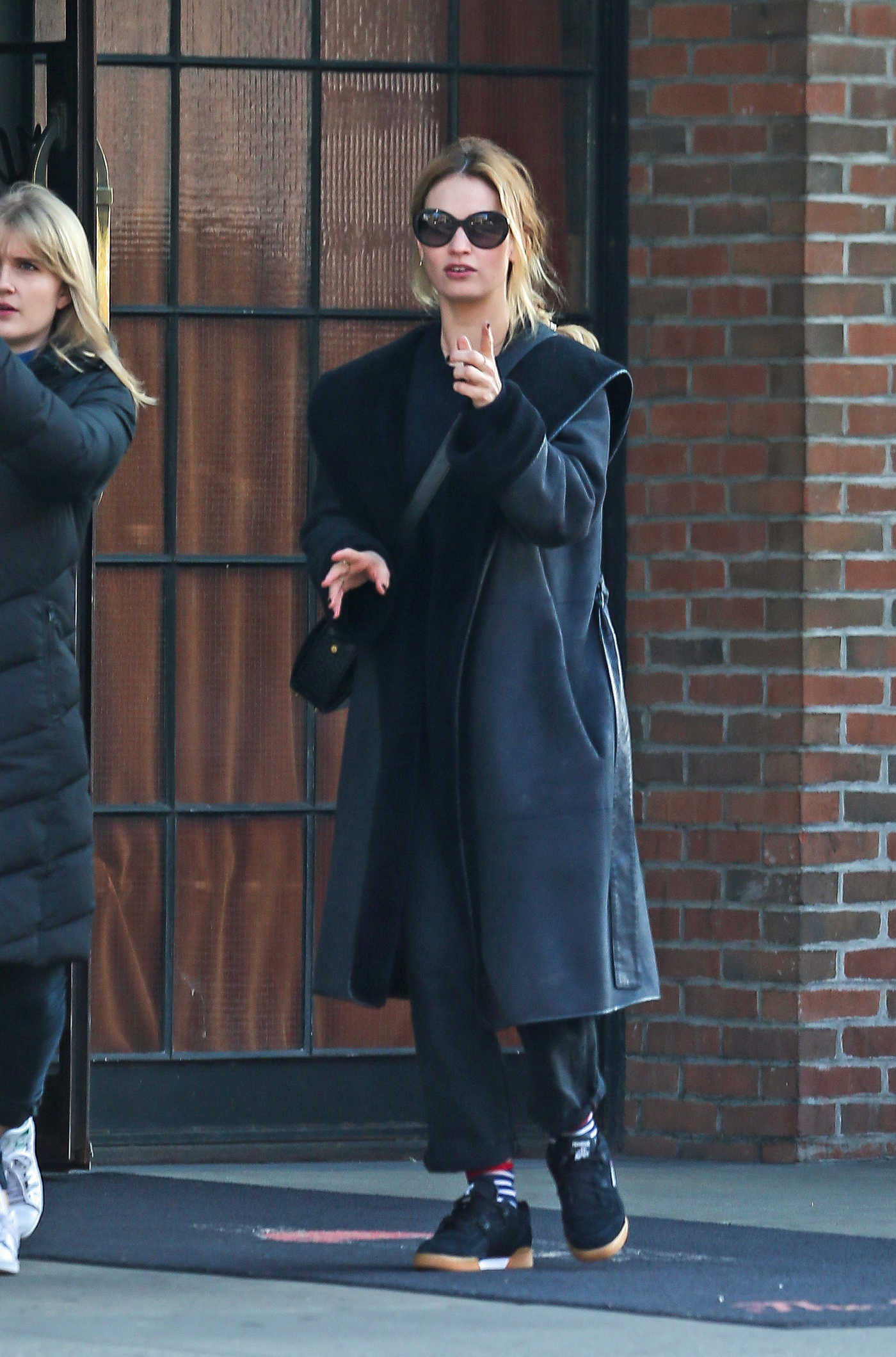 Lily James Was Seen Out in New York 12/04/2017