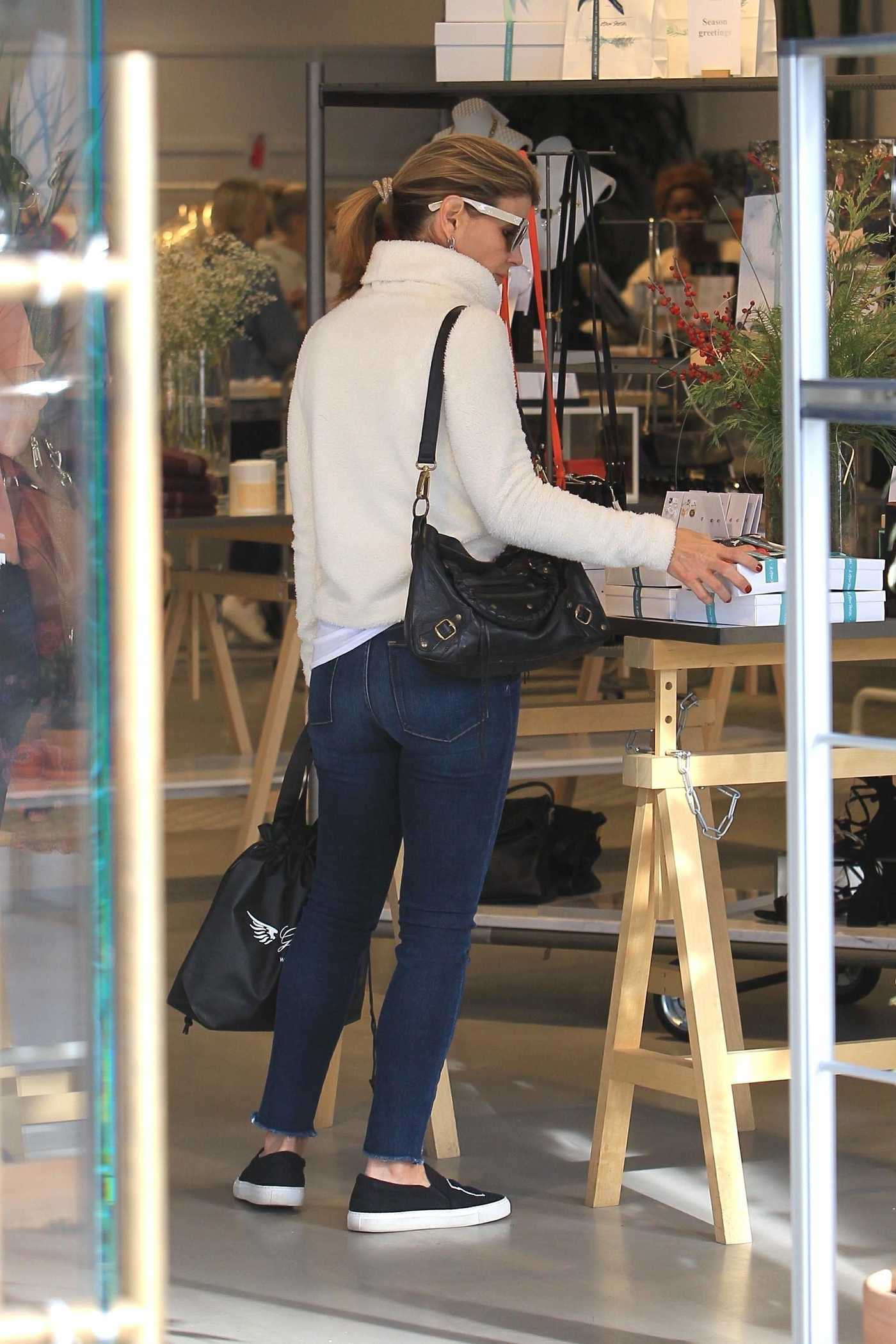 Lori Loughlin Does Some Christmas Shopping in Beverly Hills 12/19/2017