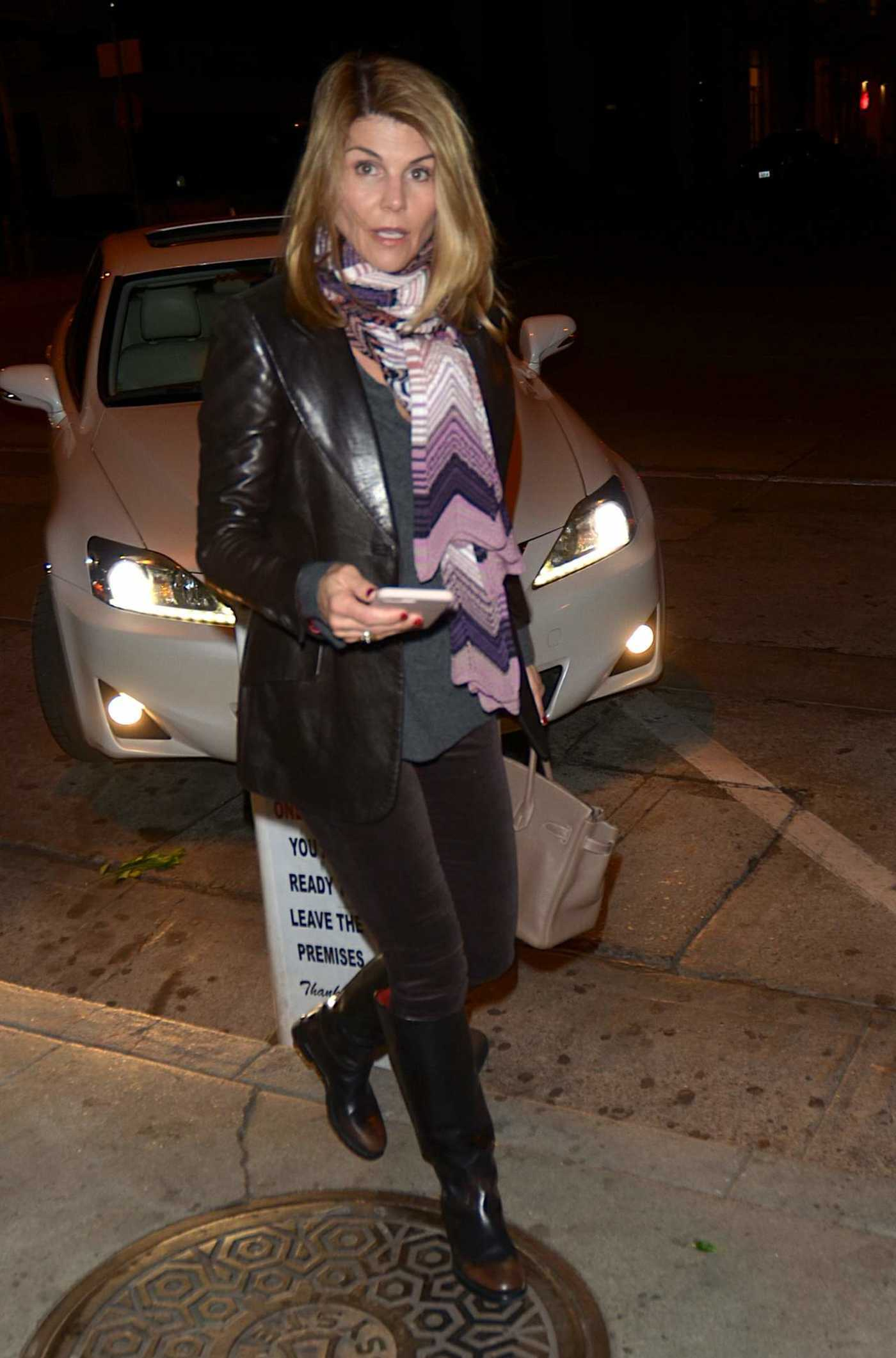 Lori Loughlin Out for Dinner at Craig's Restaurant in West Hollywood 12/17/2017