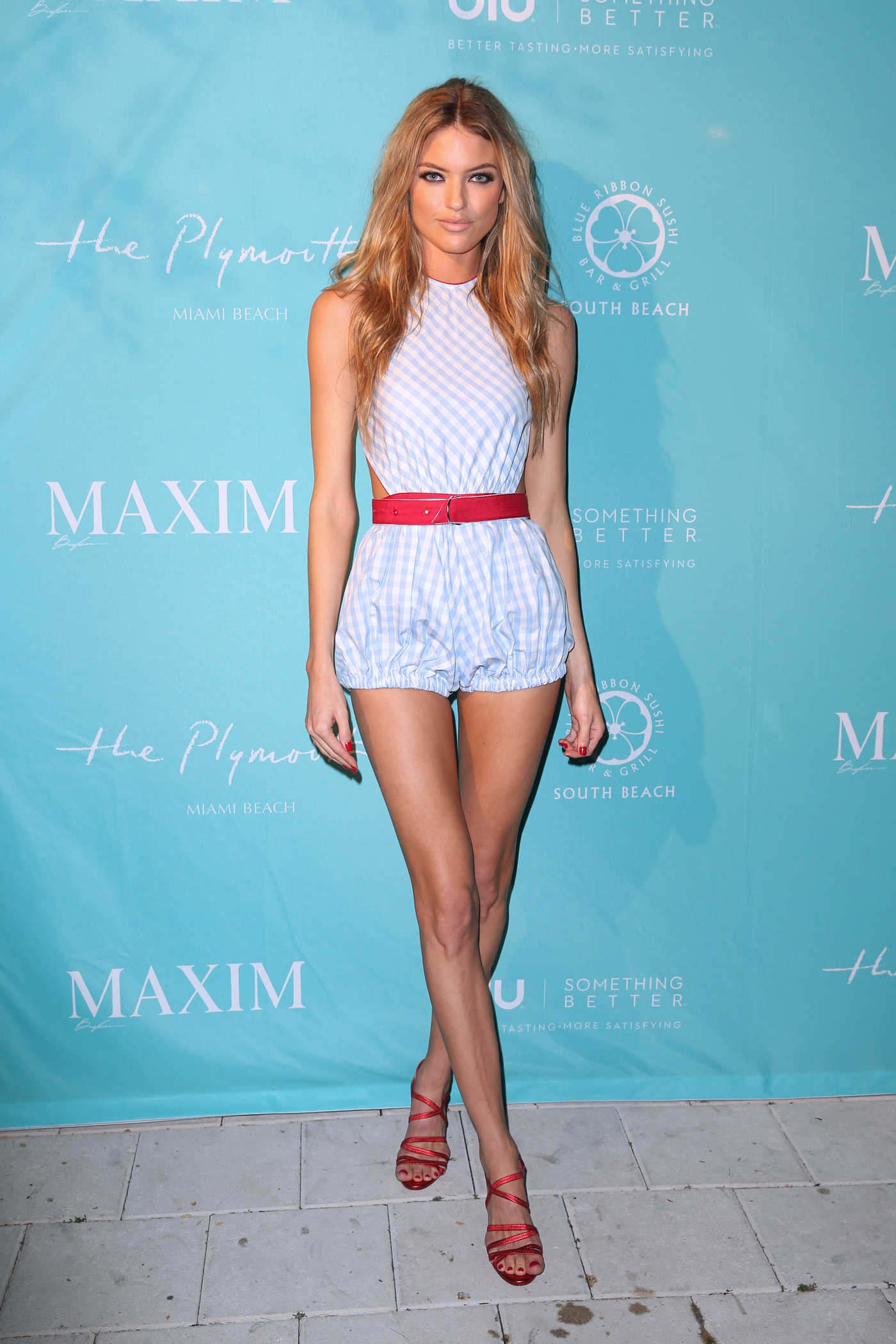 Martha Hunt at the Maxim December Miami Issue Party in Miami 12/08/2017
