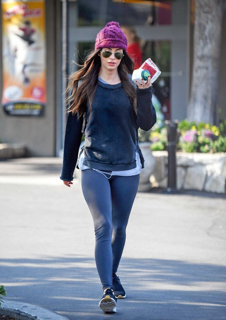 Megan Fox Leaves Pinz Bowling Alley in Studio City 12/18/2017-1