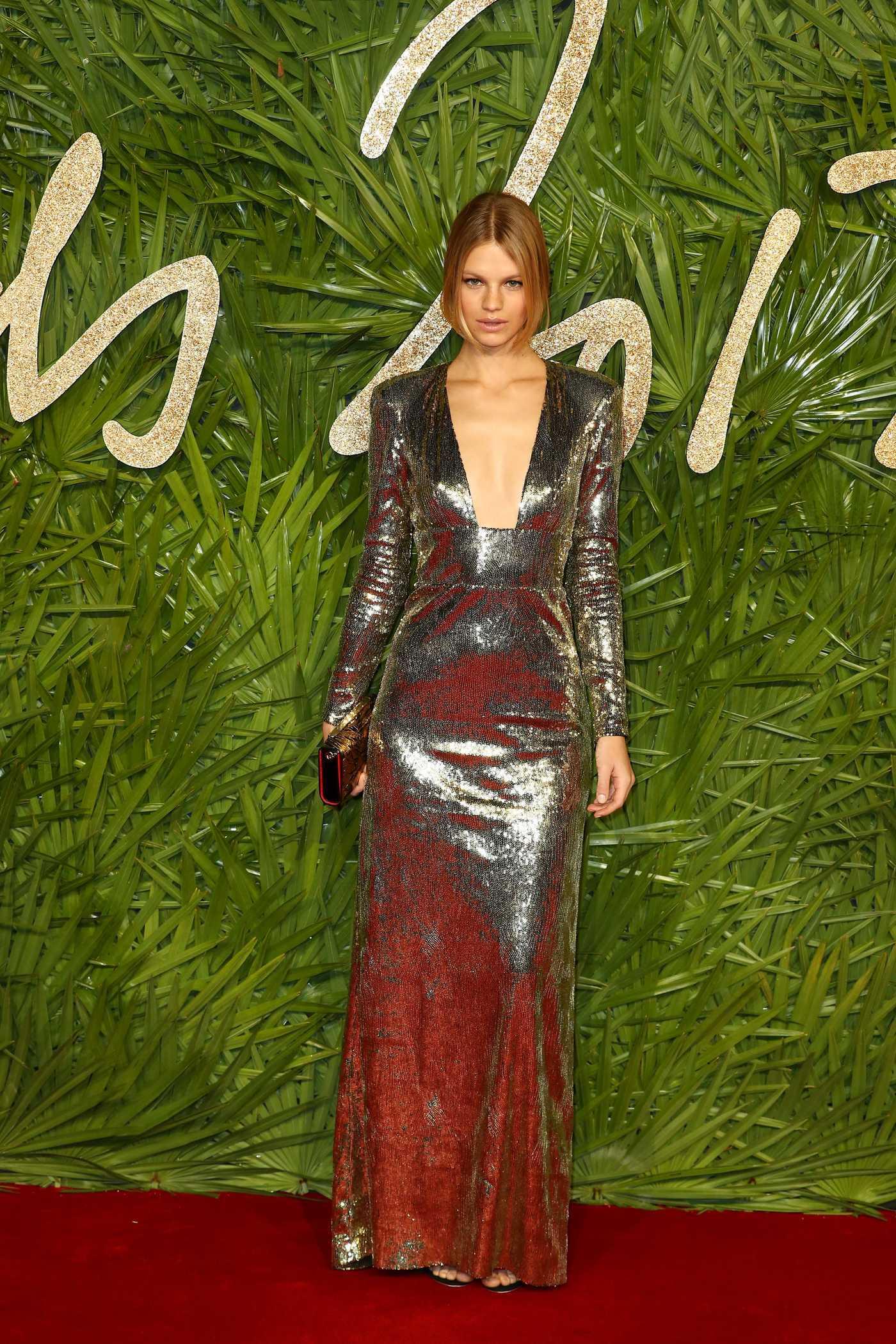 Nadine Leopold at 2017 British Fashion Awards at the Royal Albert Hall in London 12/04/2017