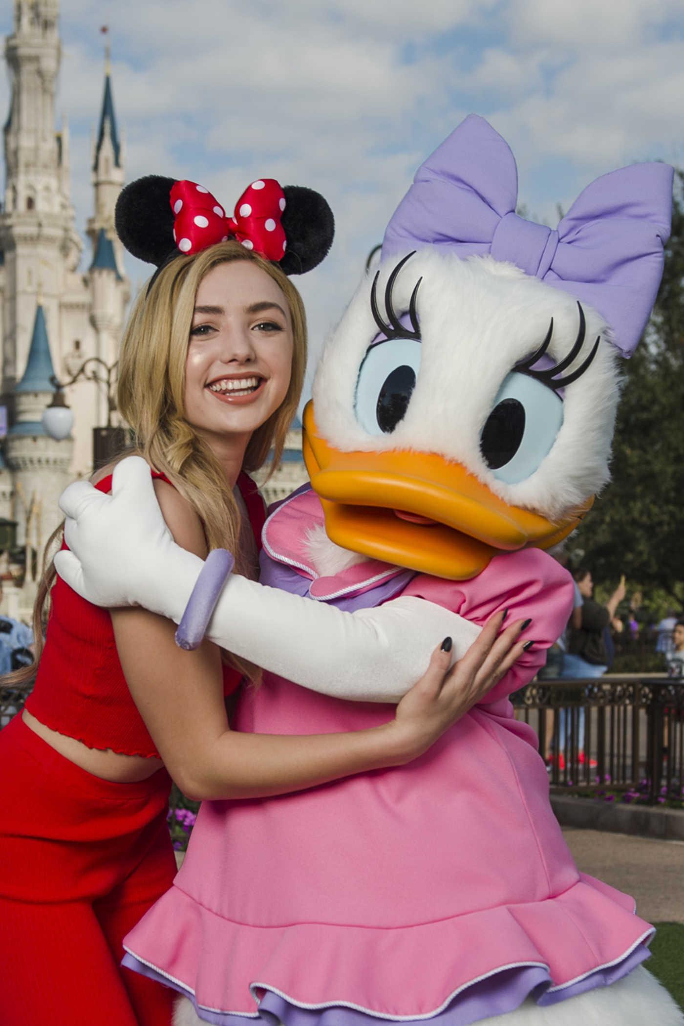 Peyton List Visits Magic Kingdom Park at Disney World in Lake Buena Vista 12/20/2017